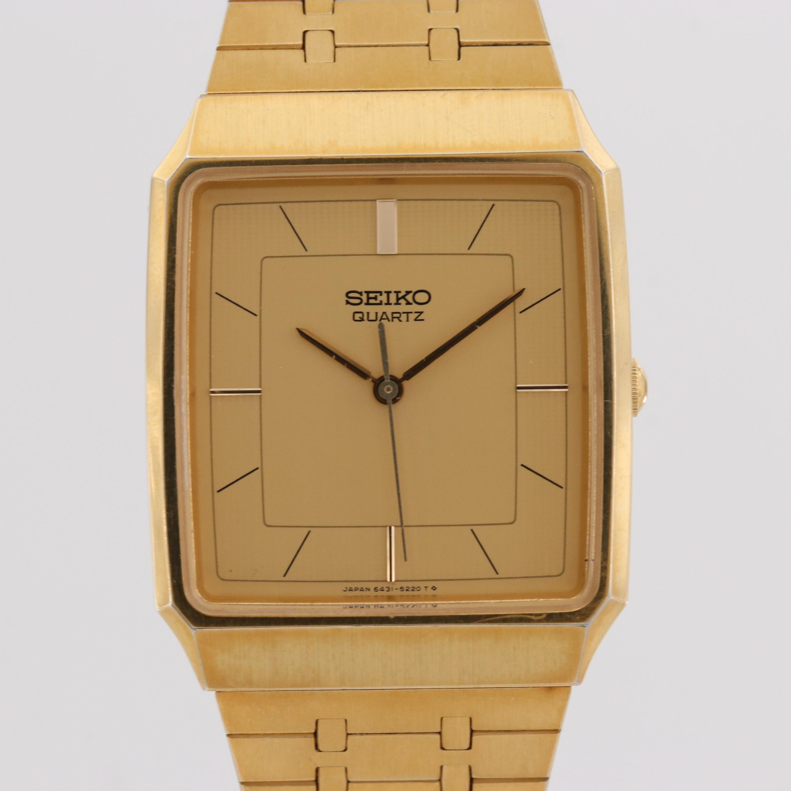 Seiko Gold Tone Quartz Wristwatch