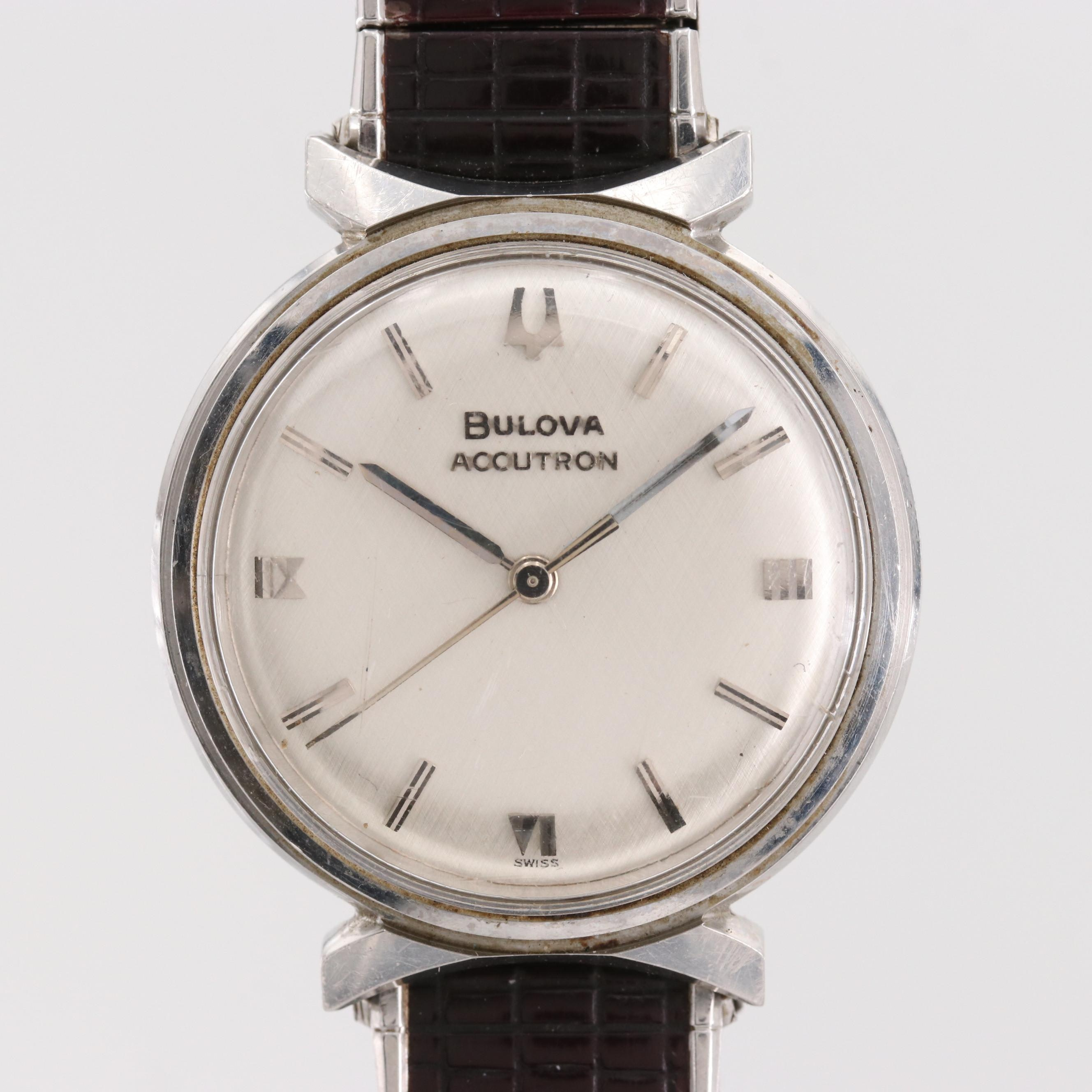 Vintage Bulova Accutron Tuning Fork Stainless Steel Wristwatch, Circa 1964