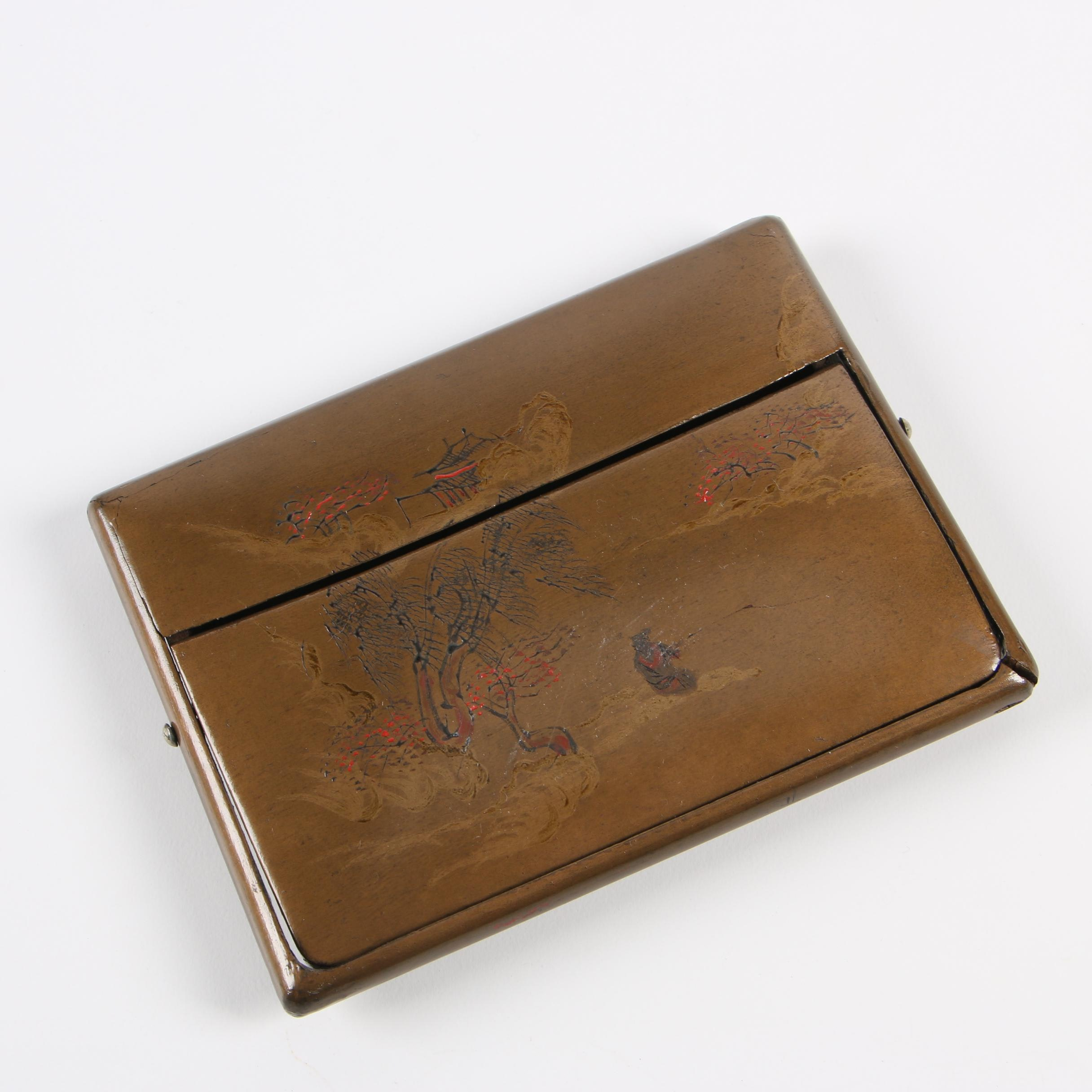 Chinese Hand-Decorated Collapsible Card Holder