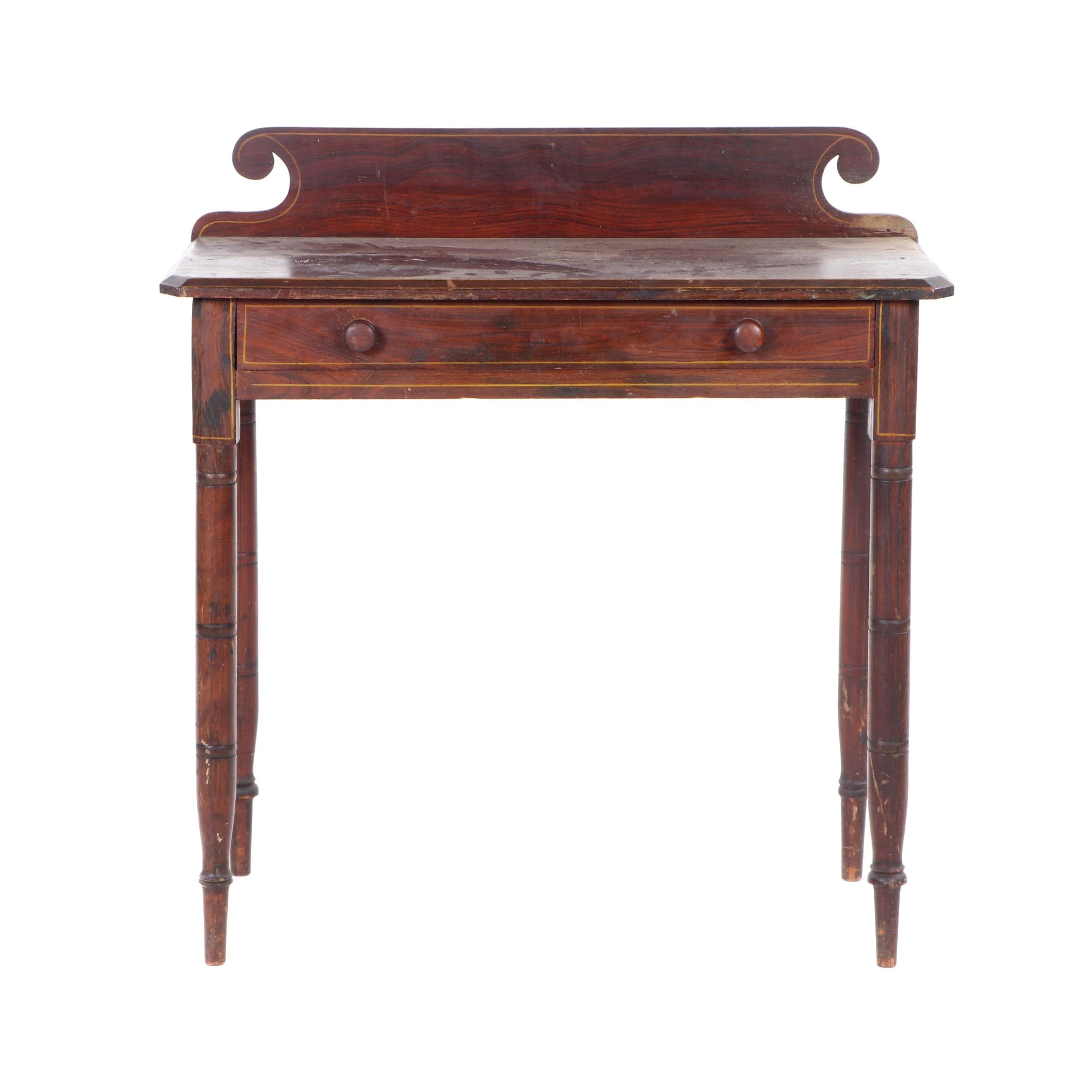 Late Federal Grain-Painted Writing Table, Circa 1820