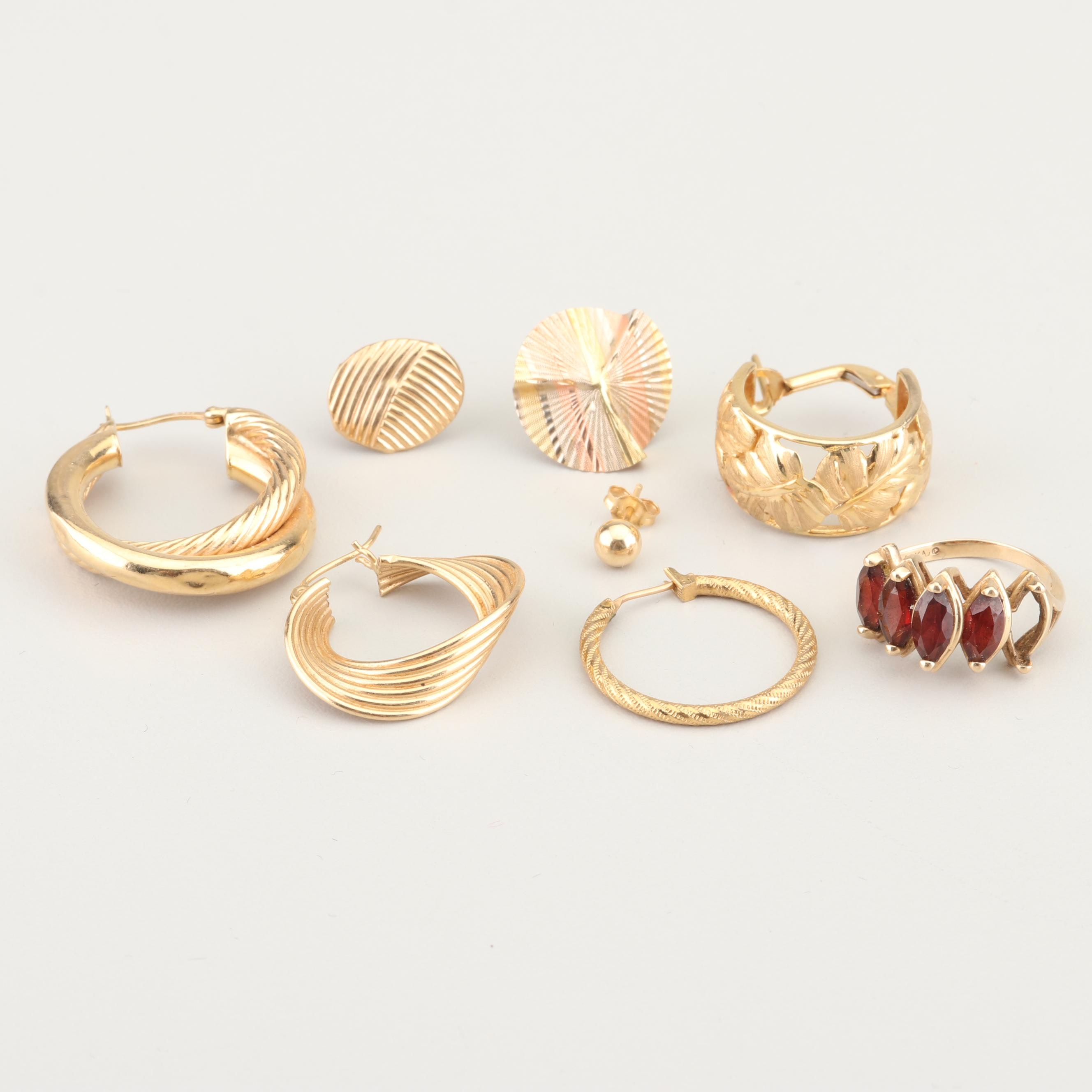 14K Yellow Gold and Gold Tone Scrap Collection
