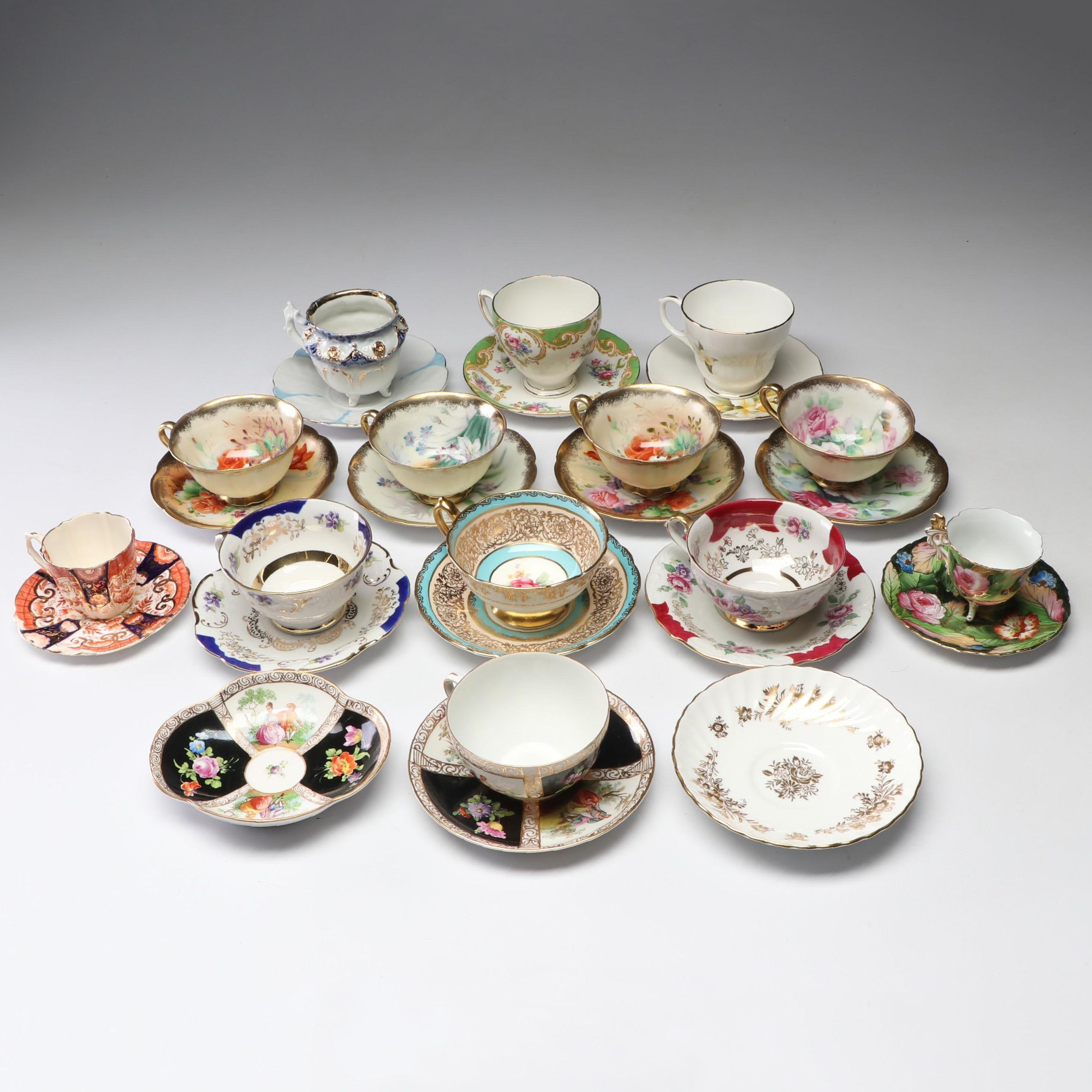 Collection of Porcelain and Bone China Tea Settings