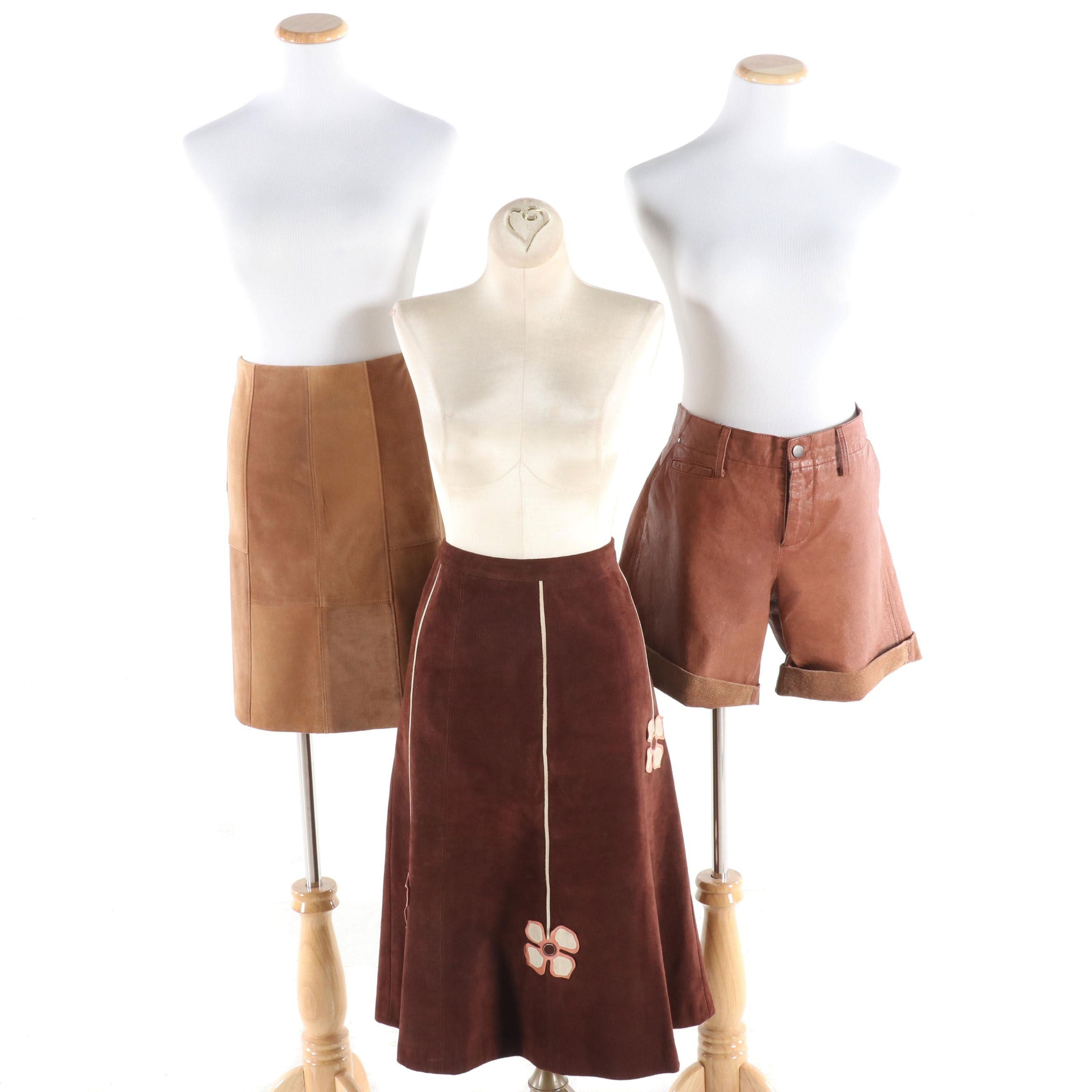 Suede Skirts and Leather Shorts Including Jaket...Etc., Tocca and Yansi Fugel