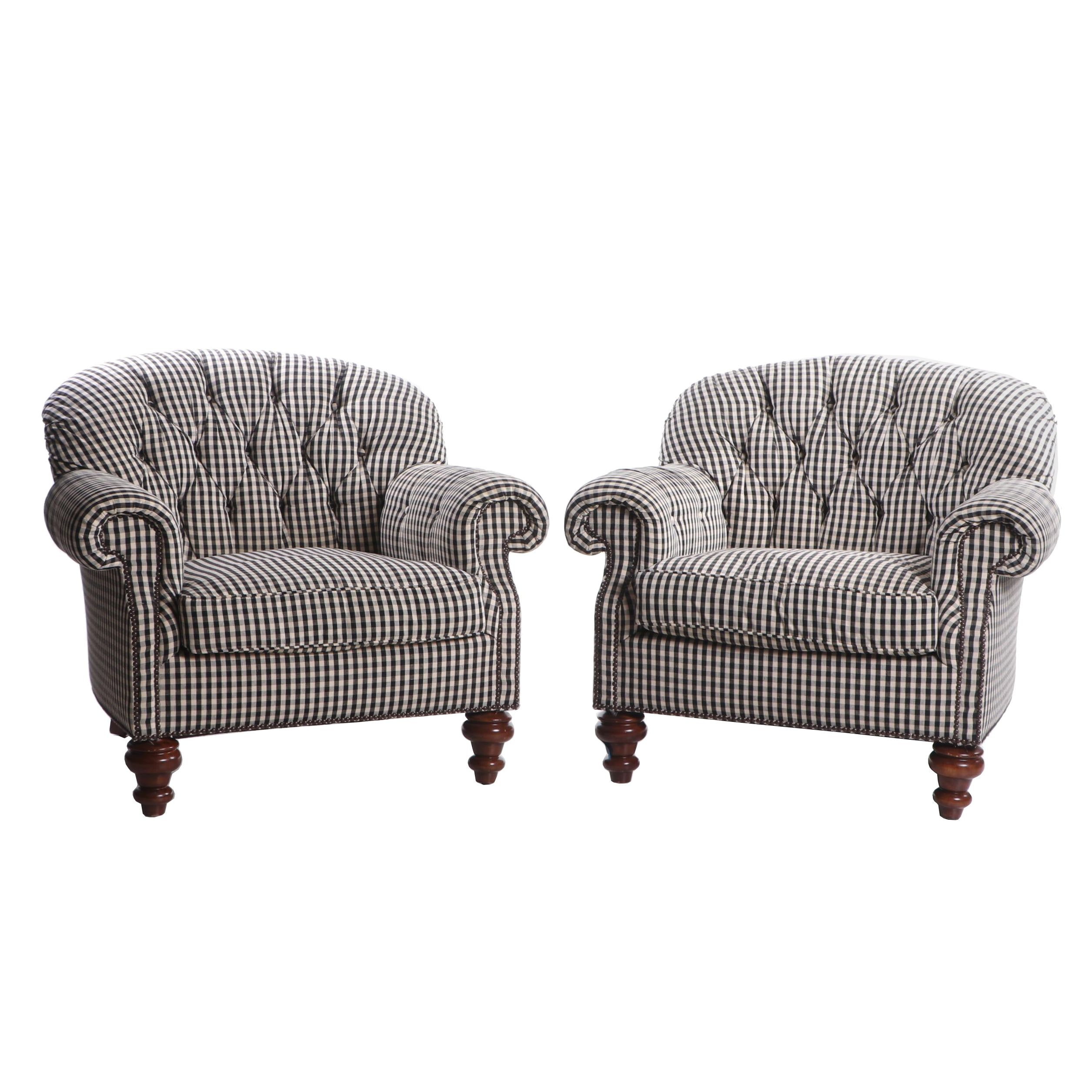 Pair of TRS Upholstered Lounge Chairs, Mid to Late 20th Century