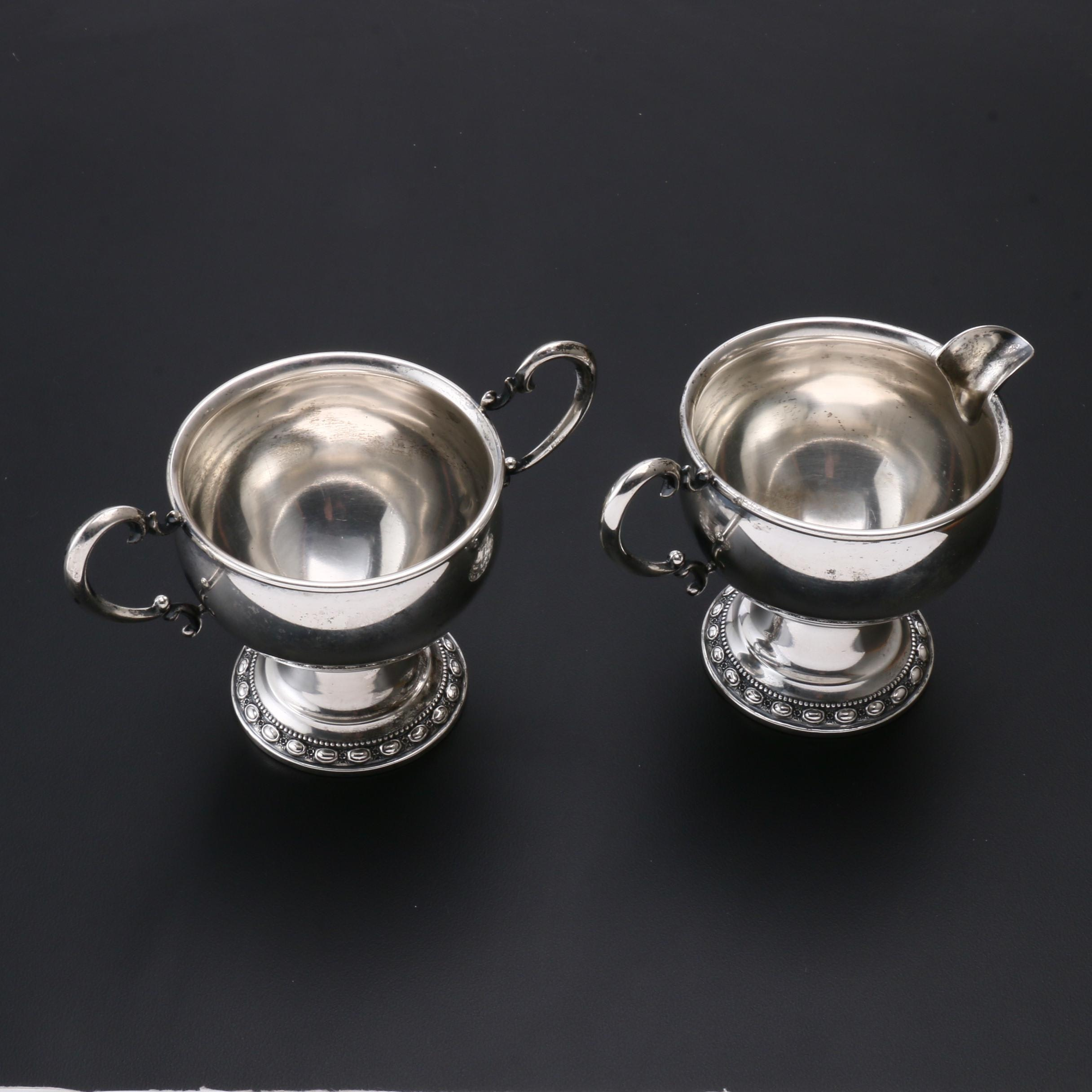 La Pierre Sterling Silver Cream and Sugar Set