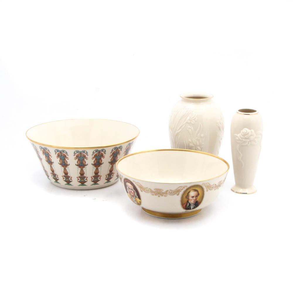 Lenox Porcelain Decorative Bowls and Vases