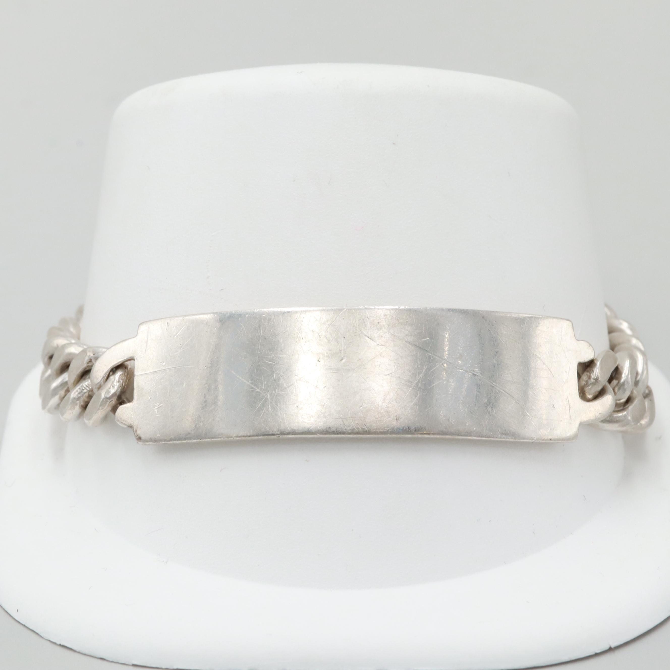 Rouben 900 Silver ID Bracelet
