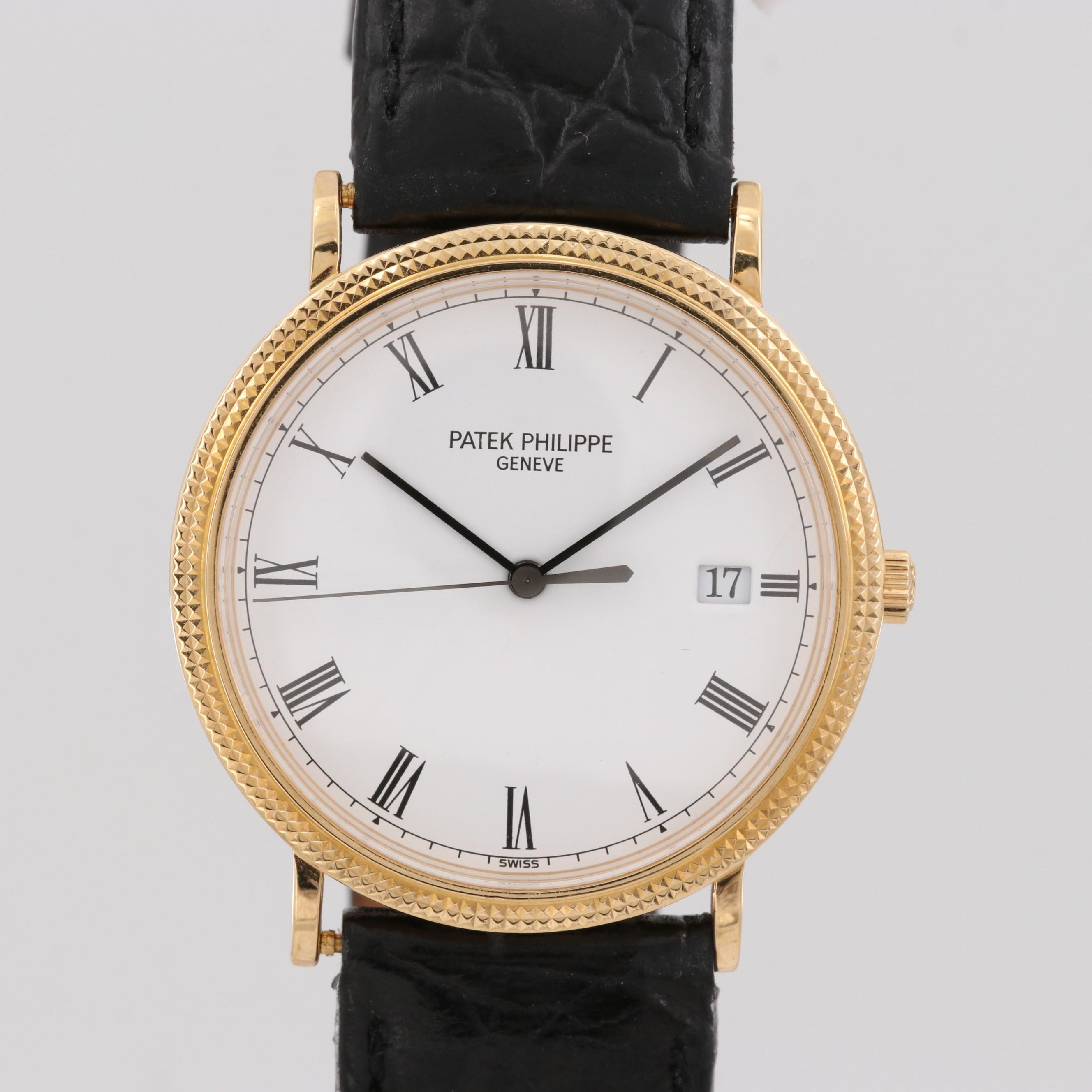 Patek Philippe Calatrava 18K Yellow Gold Quartz Wristwatch, Circa 1994