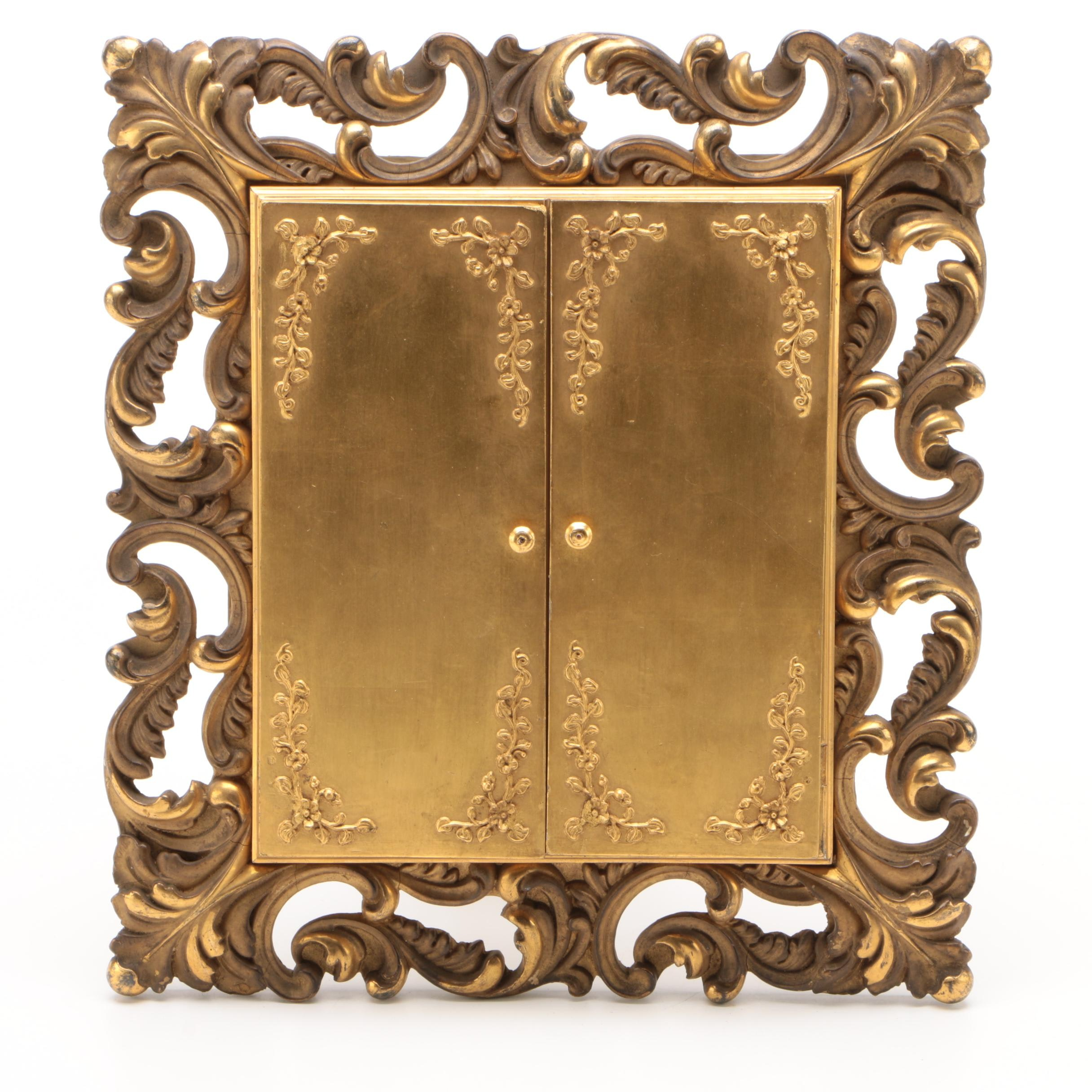 Rococo Style Giltwood and Gesso Cabinet Frame