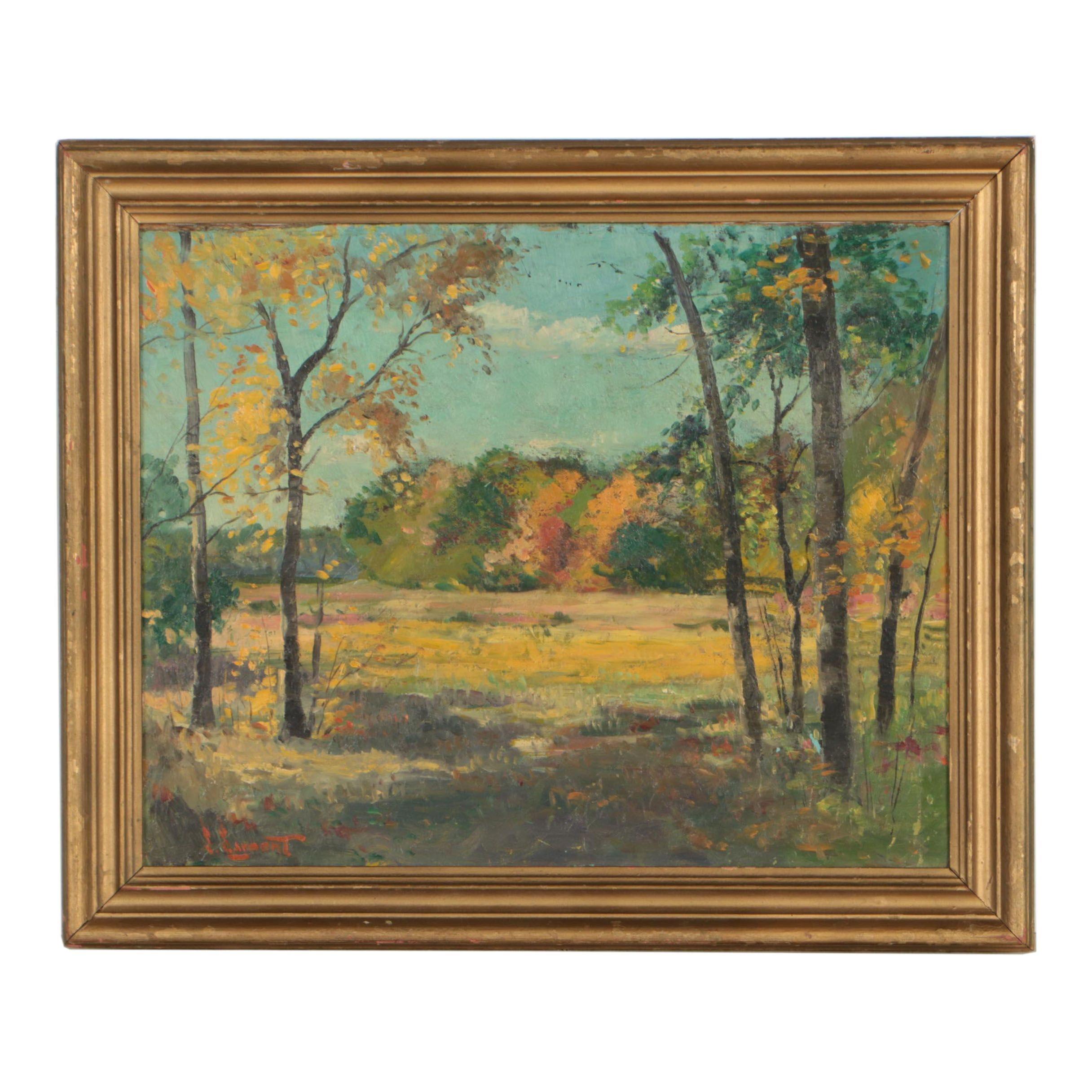 S. Sargent Landscape Oil Painting