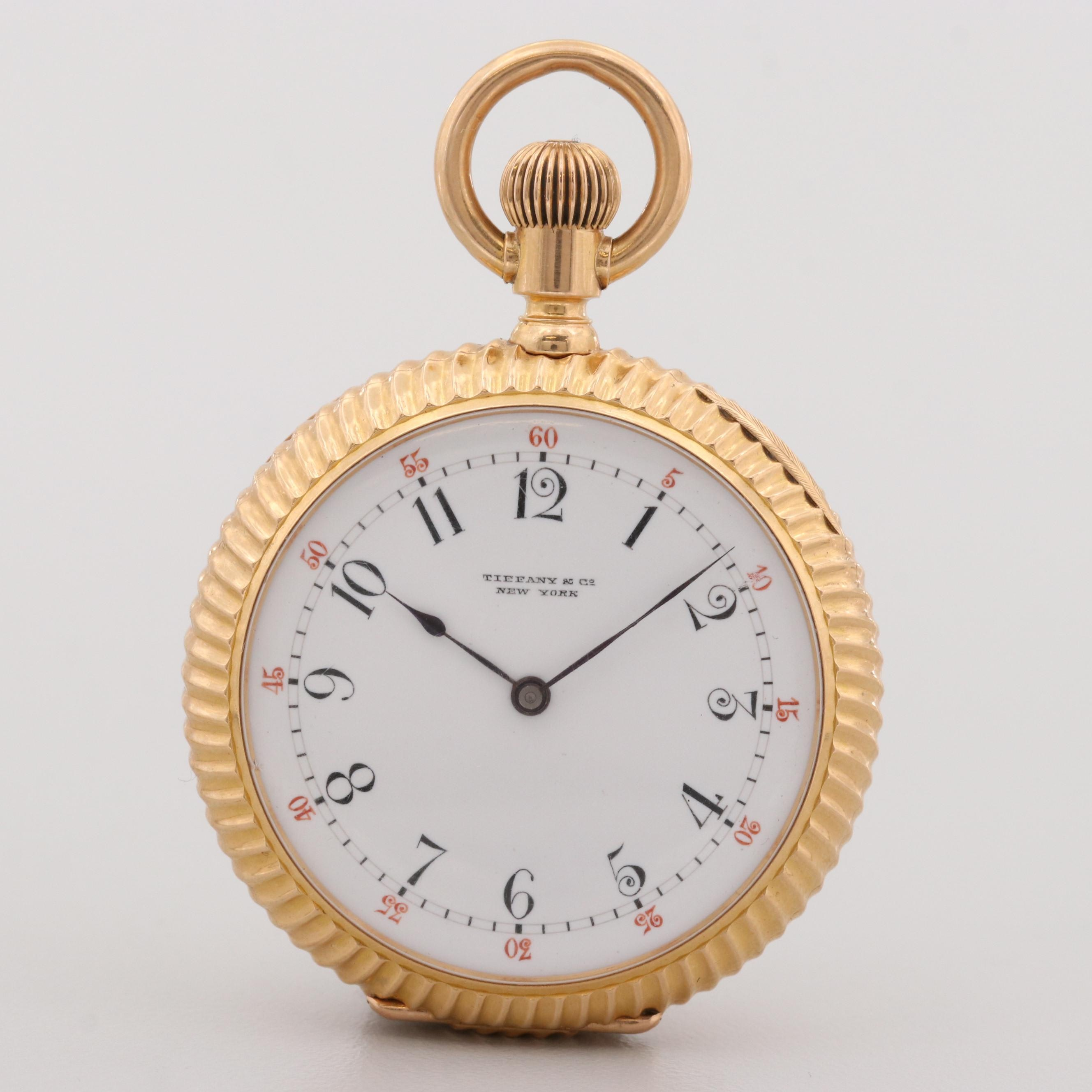 Tiffany & Co. 18K Yellow Gold New York Pocket Watch