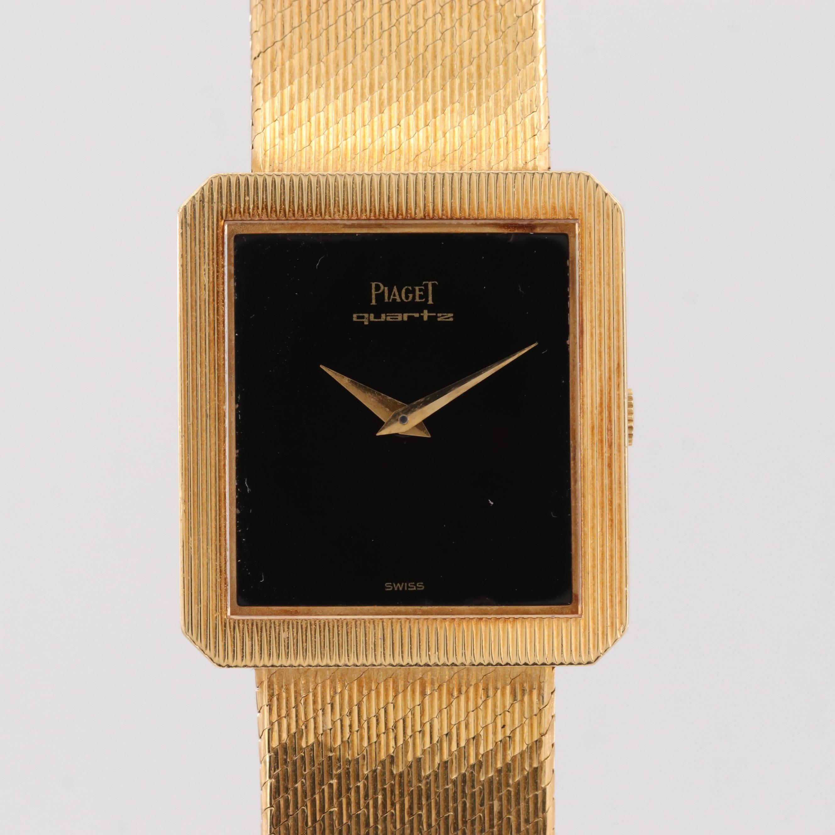 Piaget 18K Yellow Gold Quartz Wristwatch