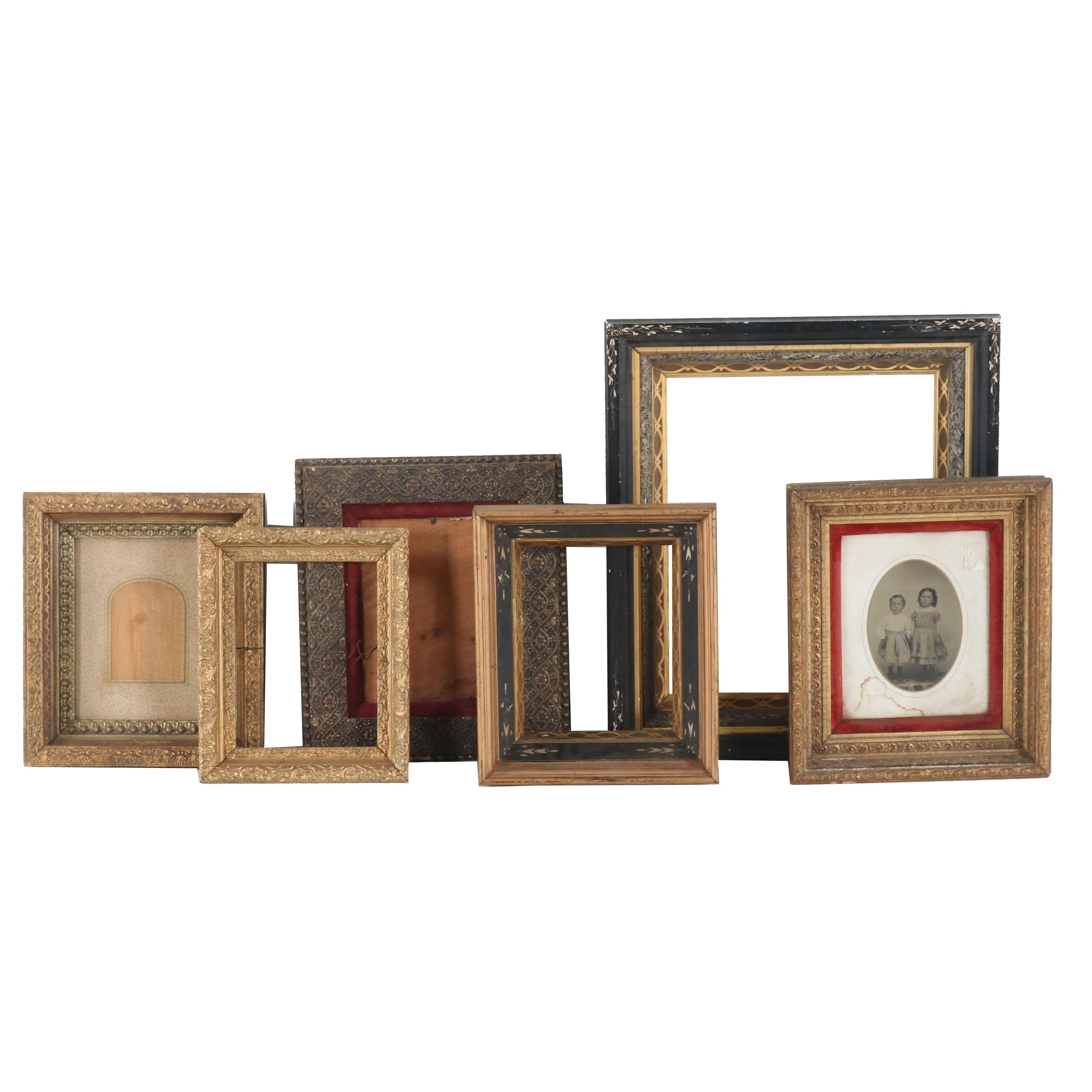 Gilt Gesso and Wood Picture Frames, Early 20th Century