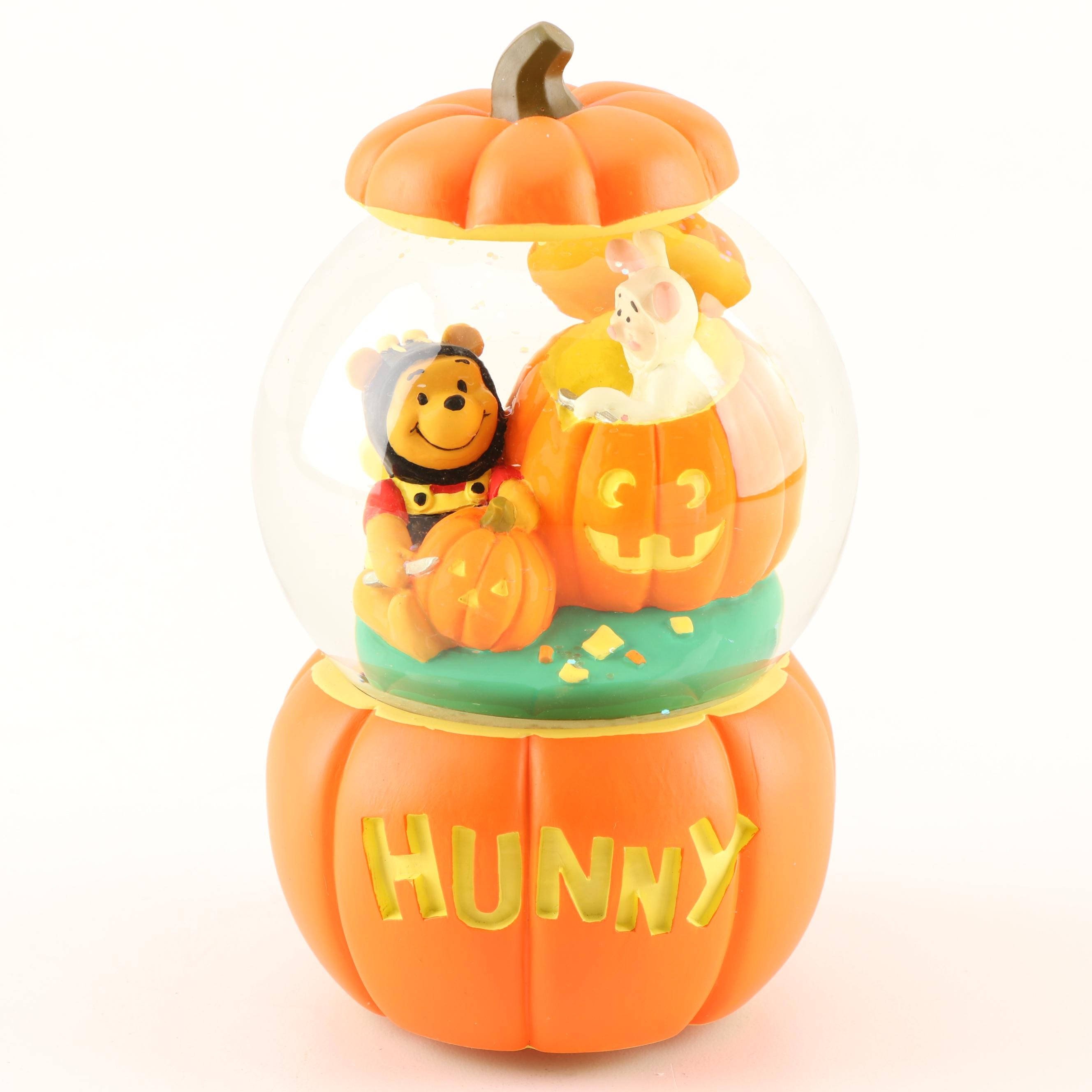 "Walt Disney's Pooh Snow Globe ""Winnie The Pooh"" Music Box"