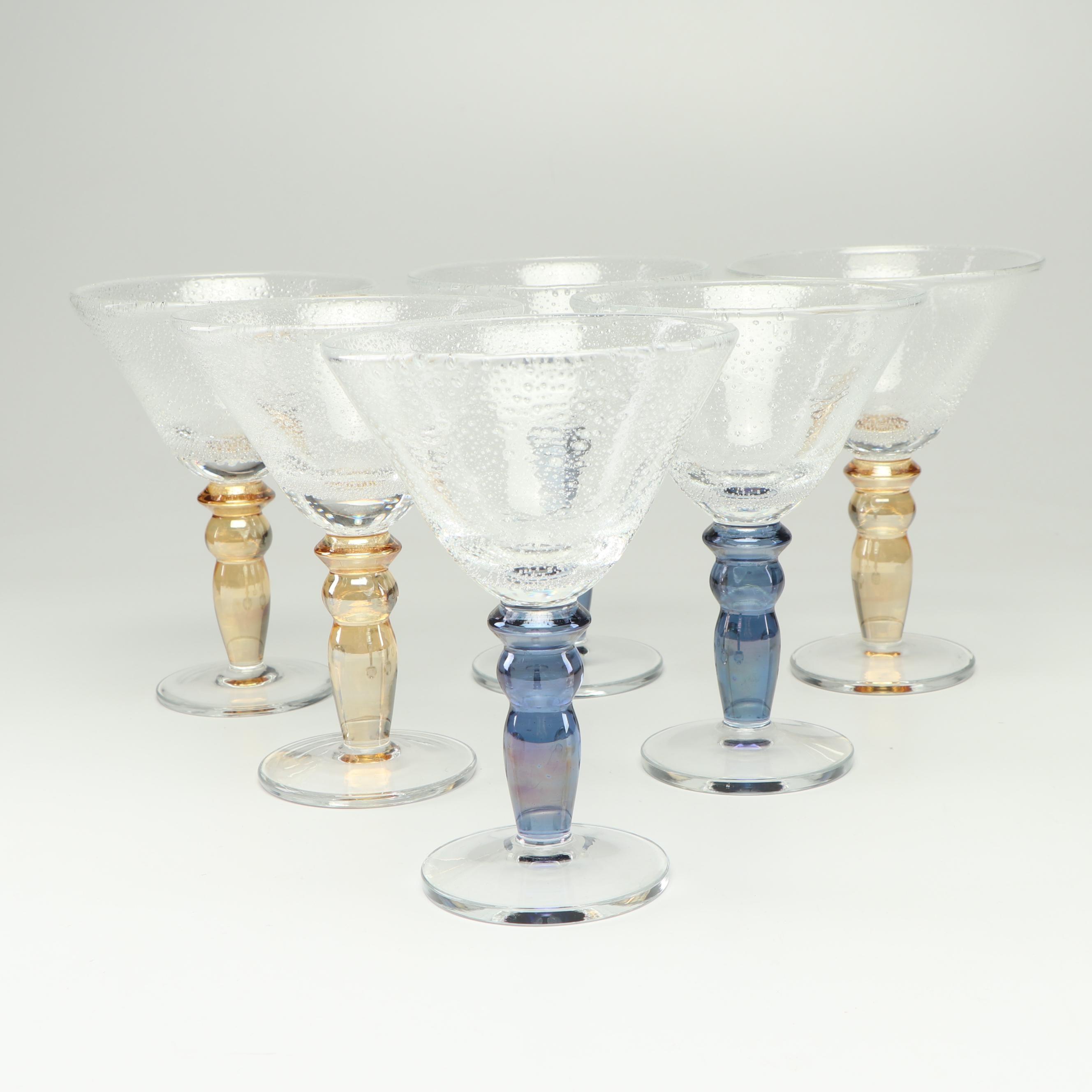 Art Glass Martini Glasses