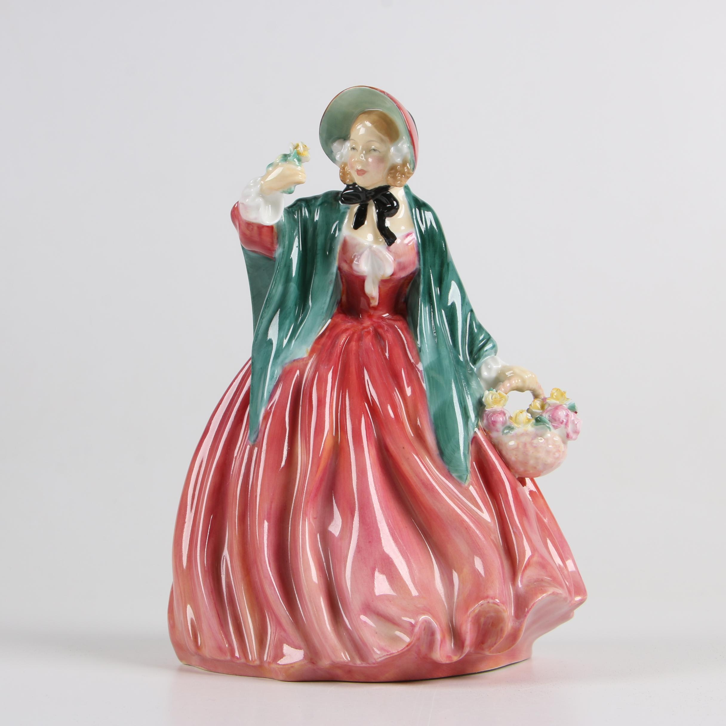 "Royal Doulton ""Lady Charmian"" Bone China Figurine, Circa 1940–1975"