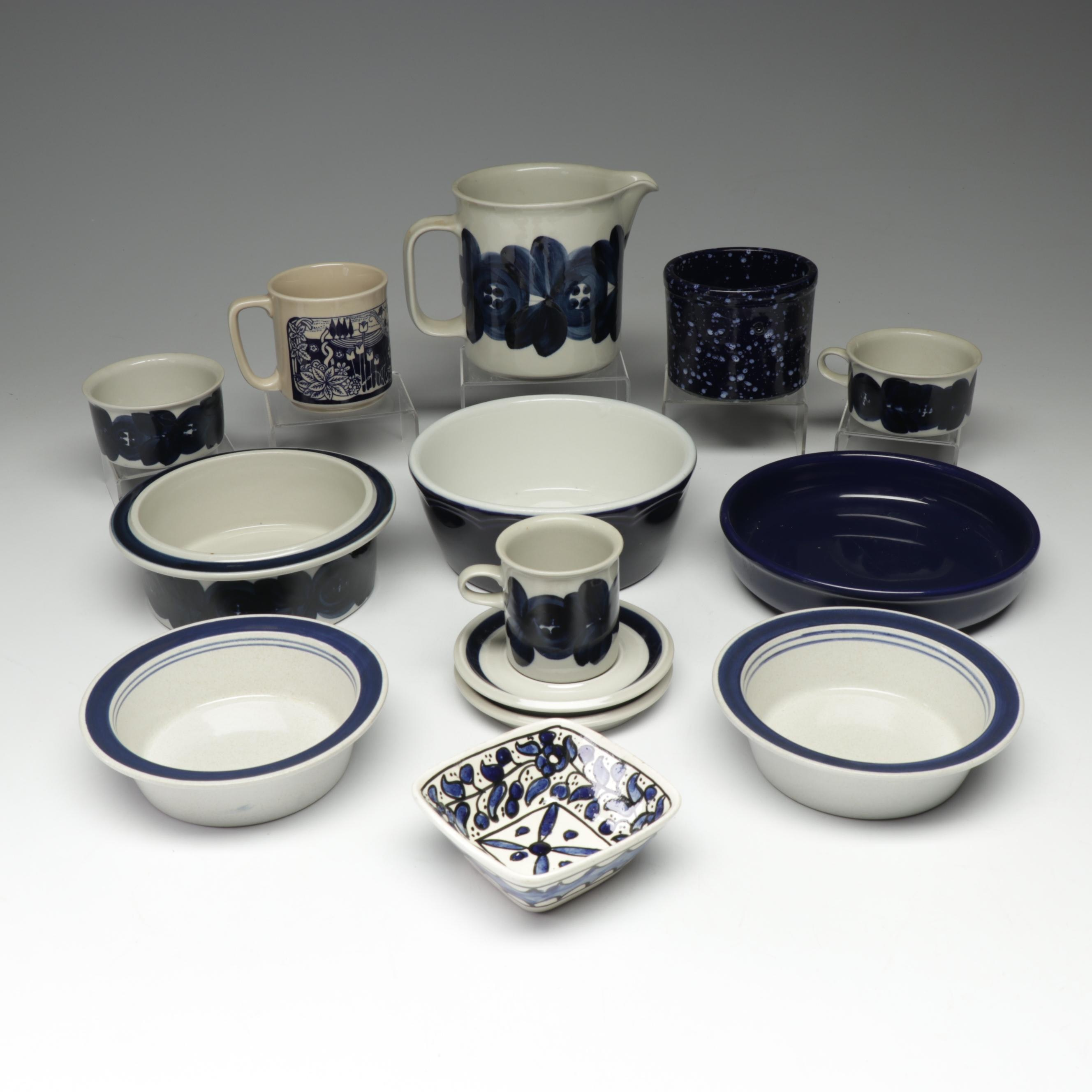 Mid-Century Modern Ceramic Tableware with Hall, Arabia and Waechtersbach