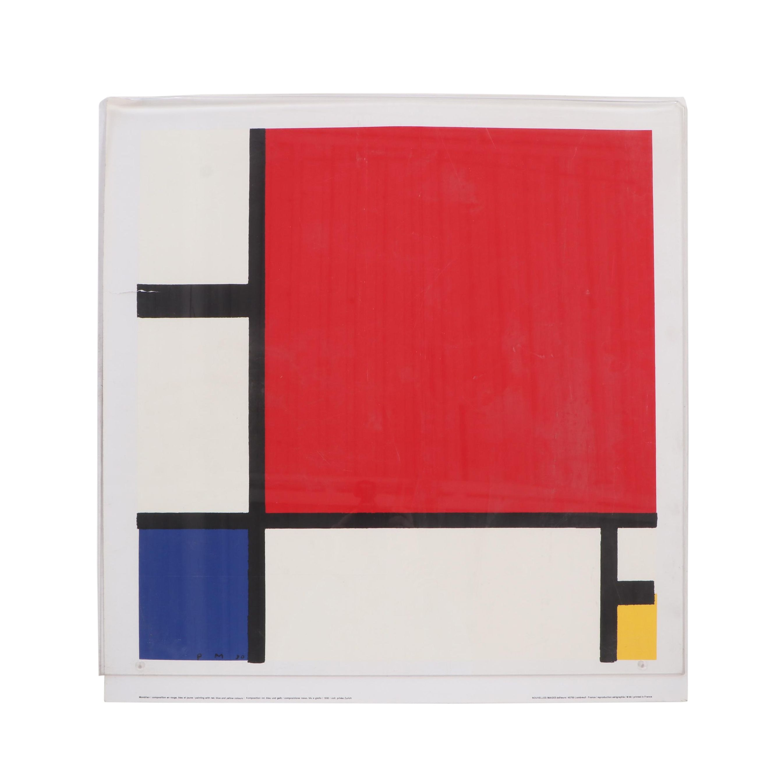 "Serigraph Exhibition Poster after Piet Mondrian ""Composition 1"""
