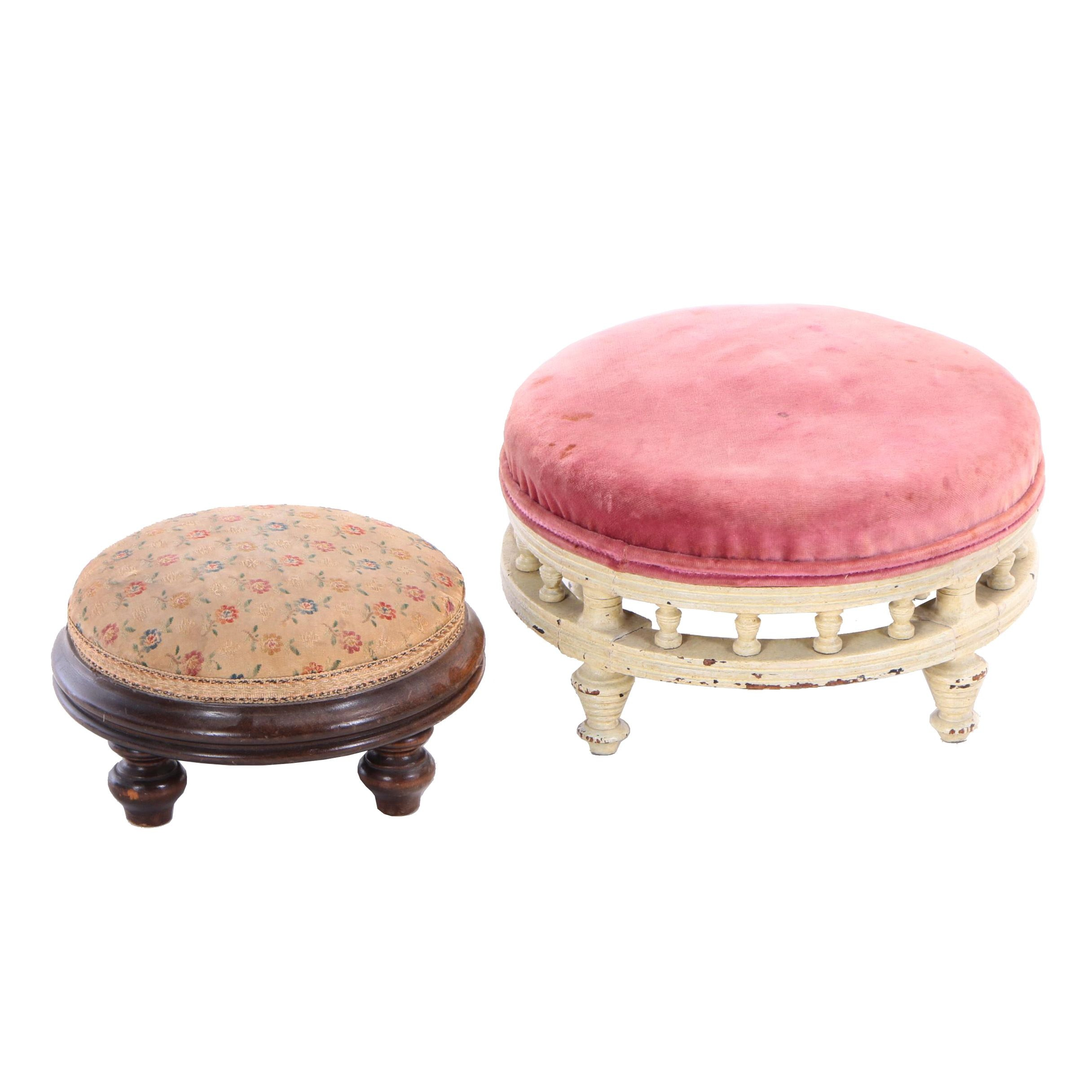 Two Victorian Footstools, Late 19th Century