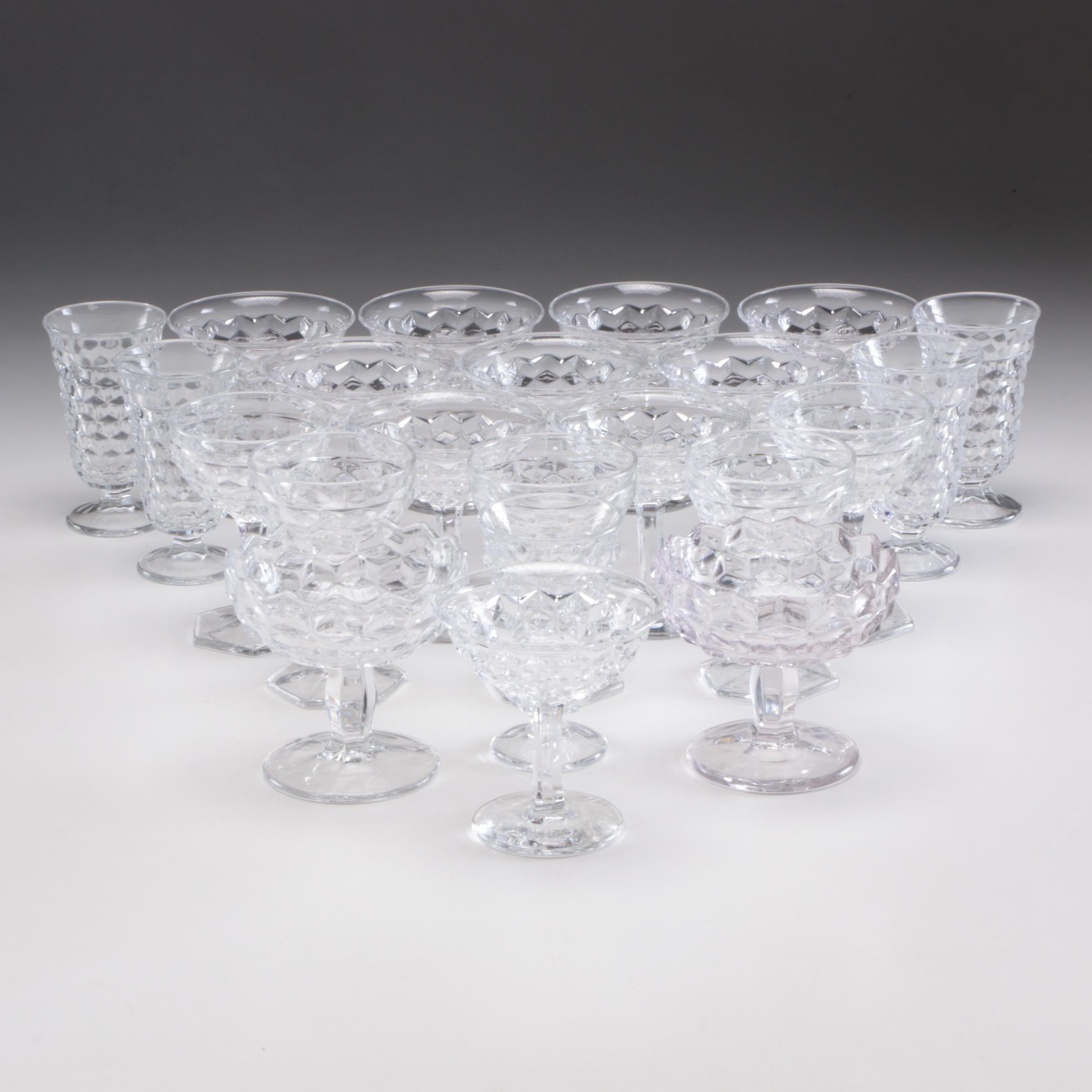 "Set of Fostoria ""American"" Stemware Drinking Glasses"