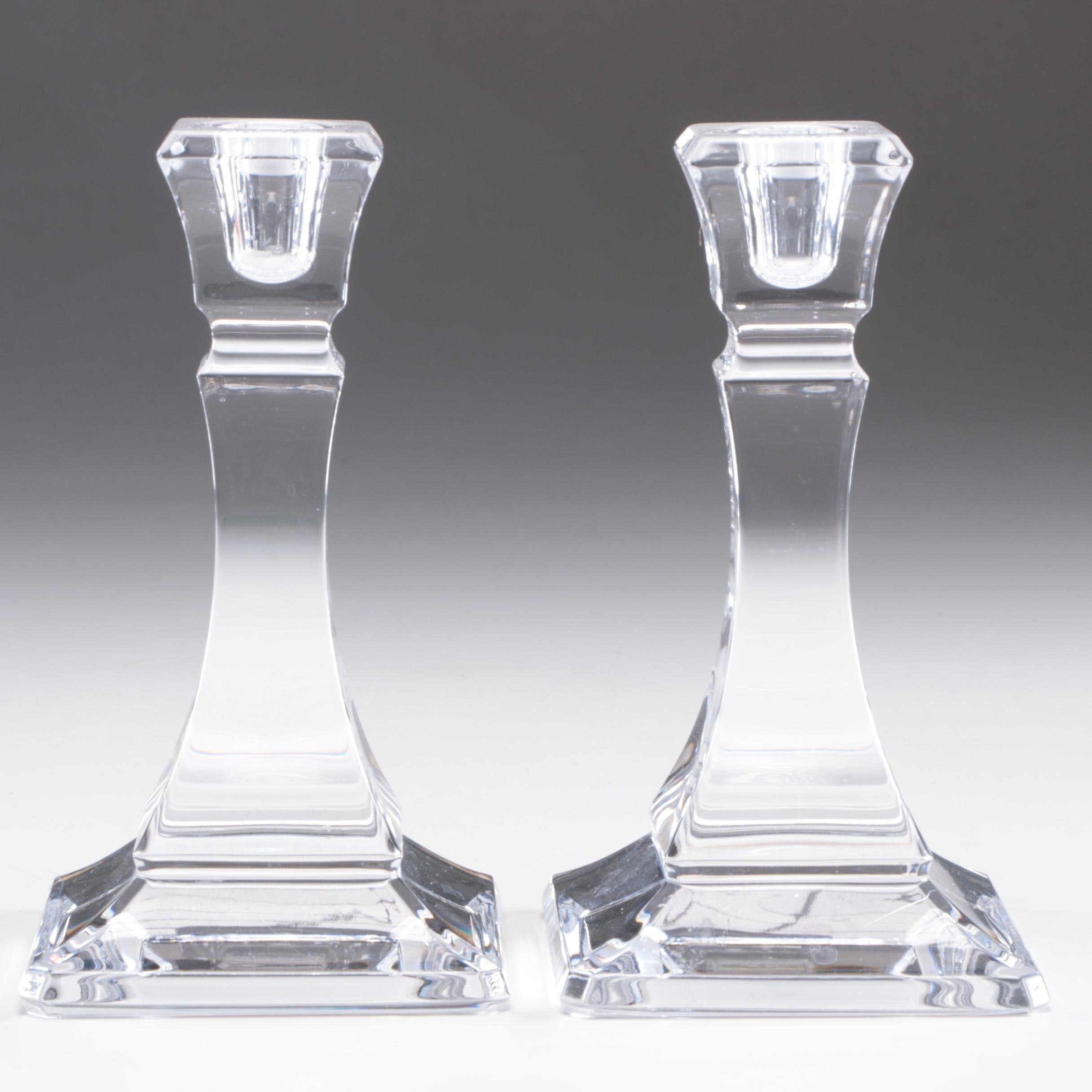 Pair of Tiffany & Co. Crystal Candlesticks