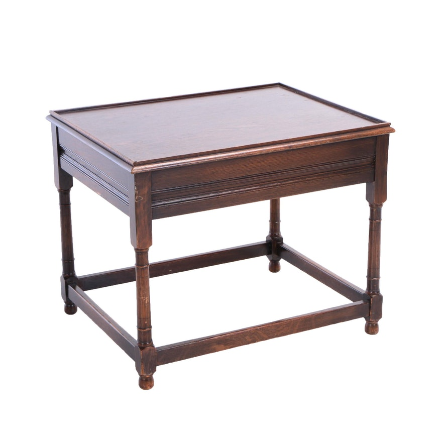 Kittinger Furniture William And Mary Style Oak Side Table 20th