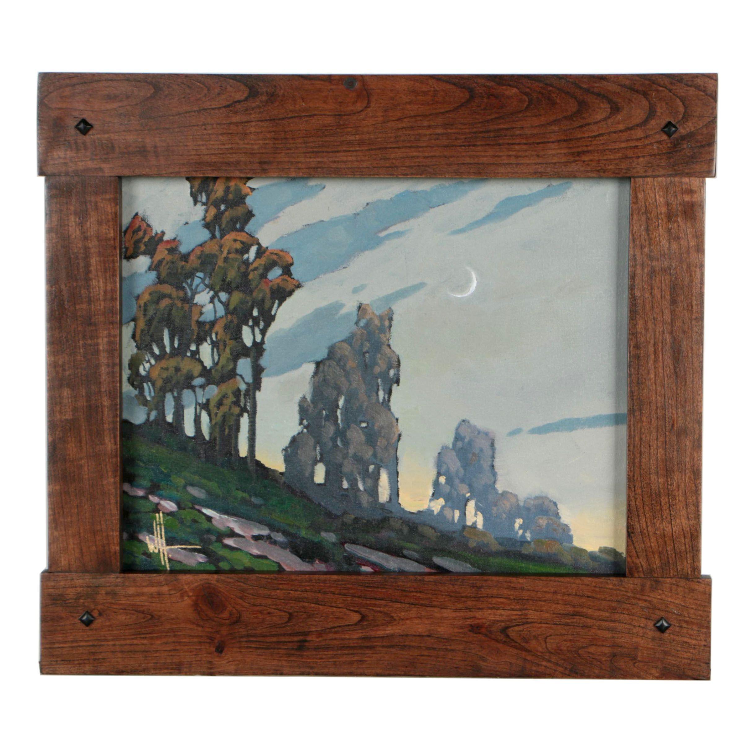 """William Hawkins Oil Painting """"Split Moon"""""""