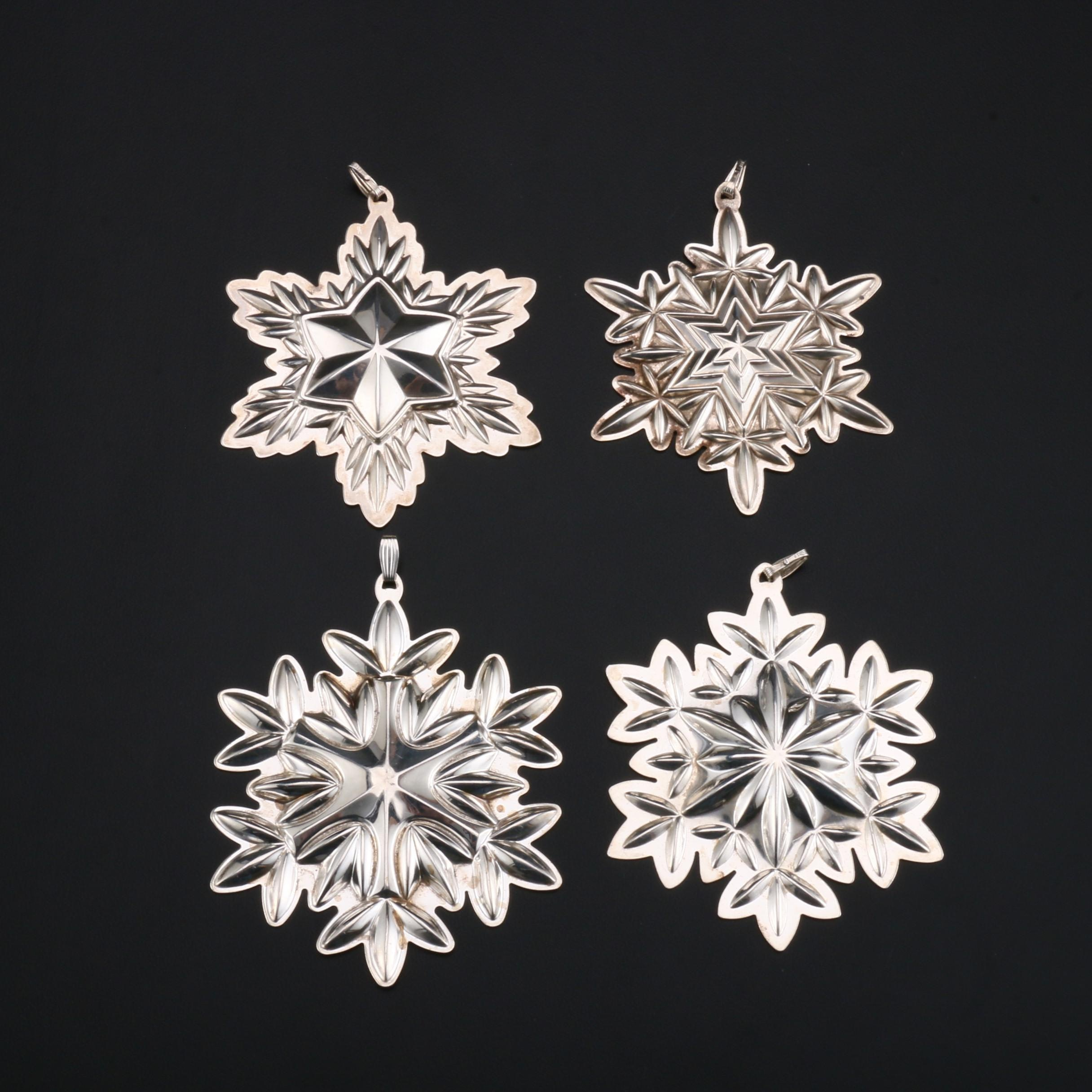 Waterford Sterling Silver Snowflake Ornaments