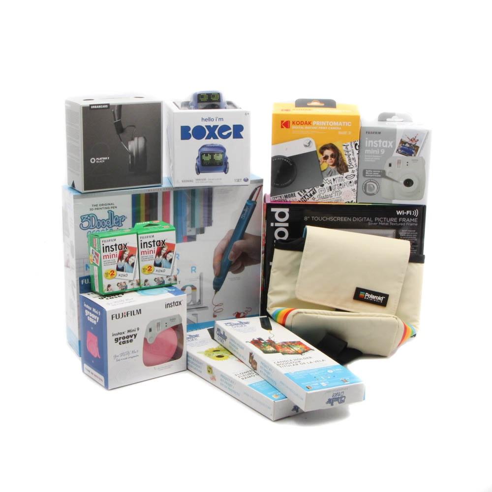 Electronics Featuring 3Doodler, Polaroid, Fuji, Kodak, Urban Ears and Boxer
