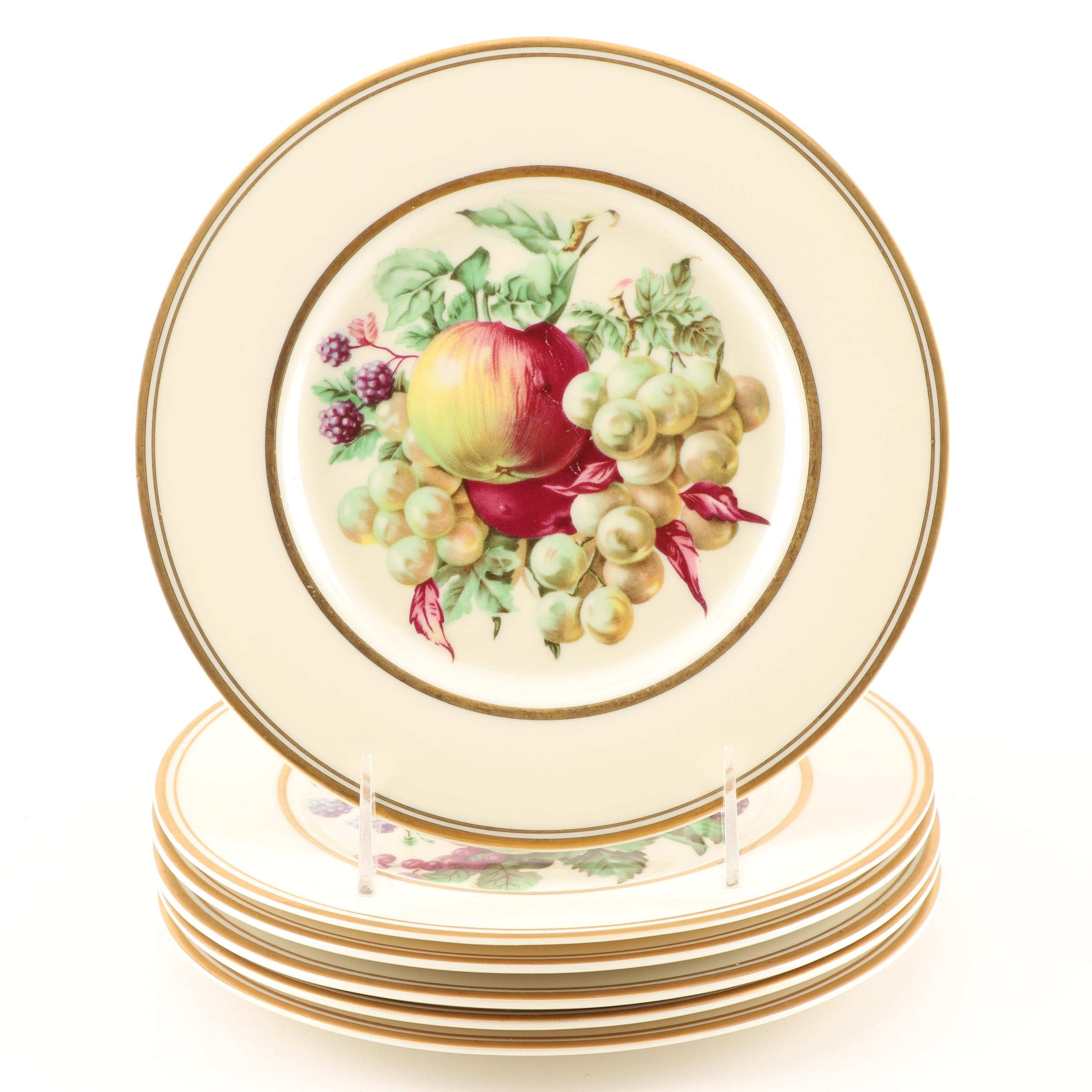 Imperial Decorative Fruit Motif Porcelain Plates