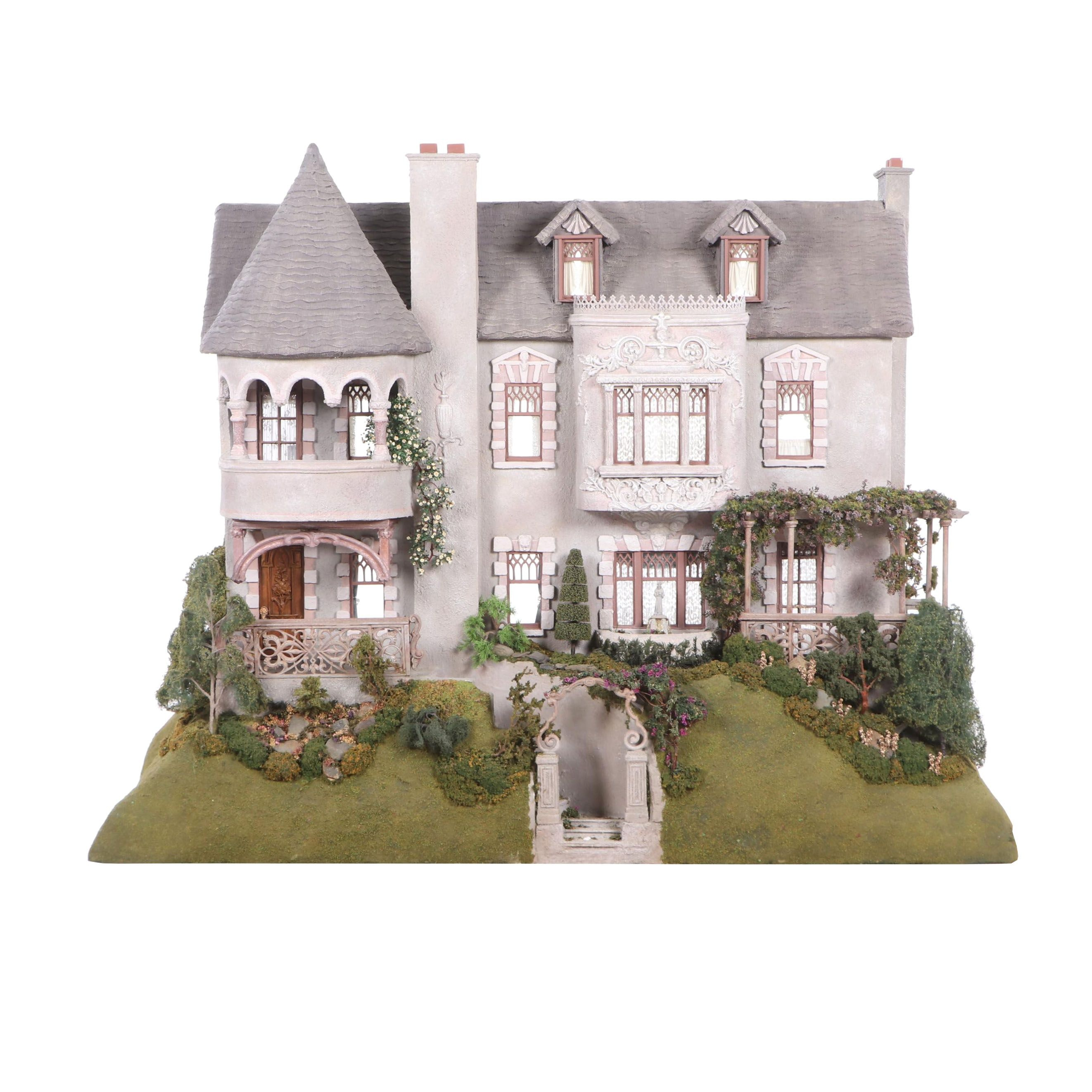 "Custom Made Jan K. Wolf for Mansions ""Casa Ladera"" Dollhouse"