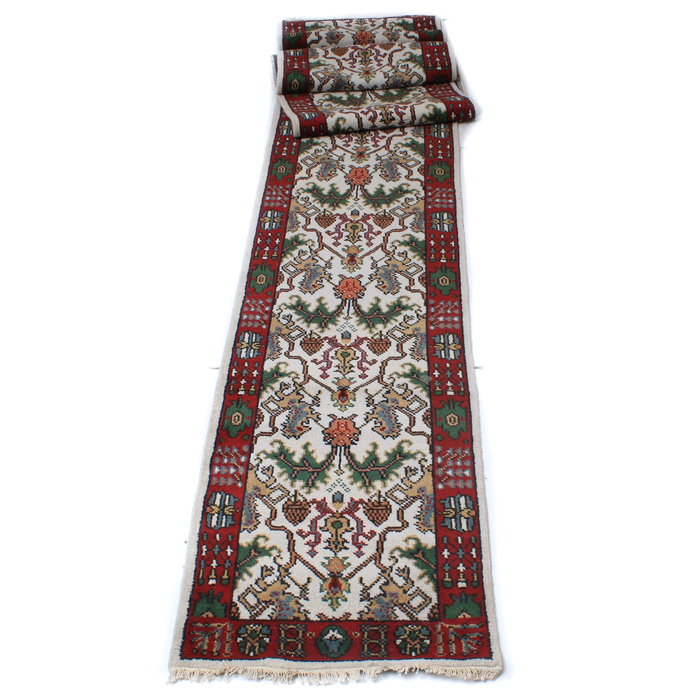 Hand-Knotted Persian Kazak Carpet Runner