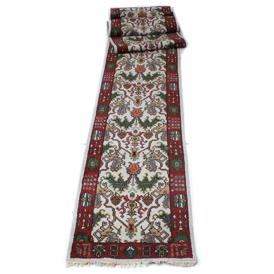 Hand-Knotted Persian Kazak Carpet Runner