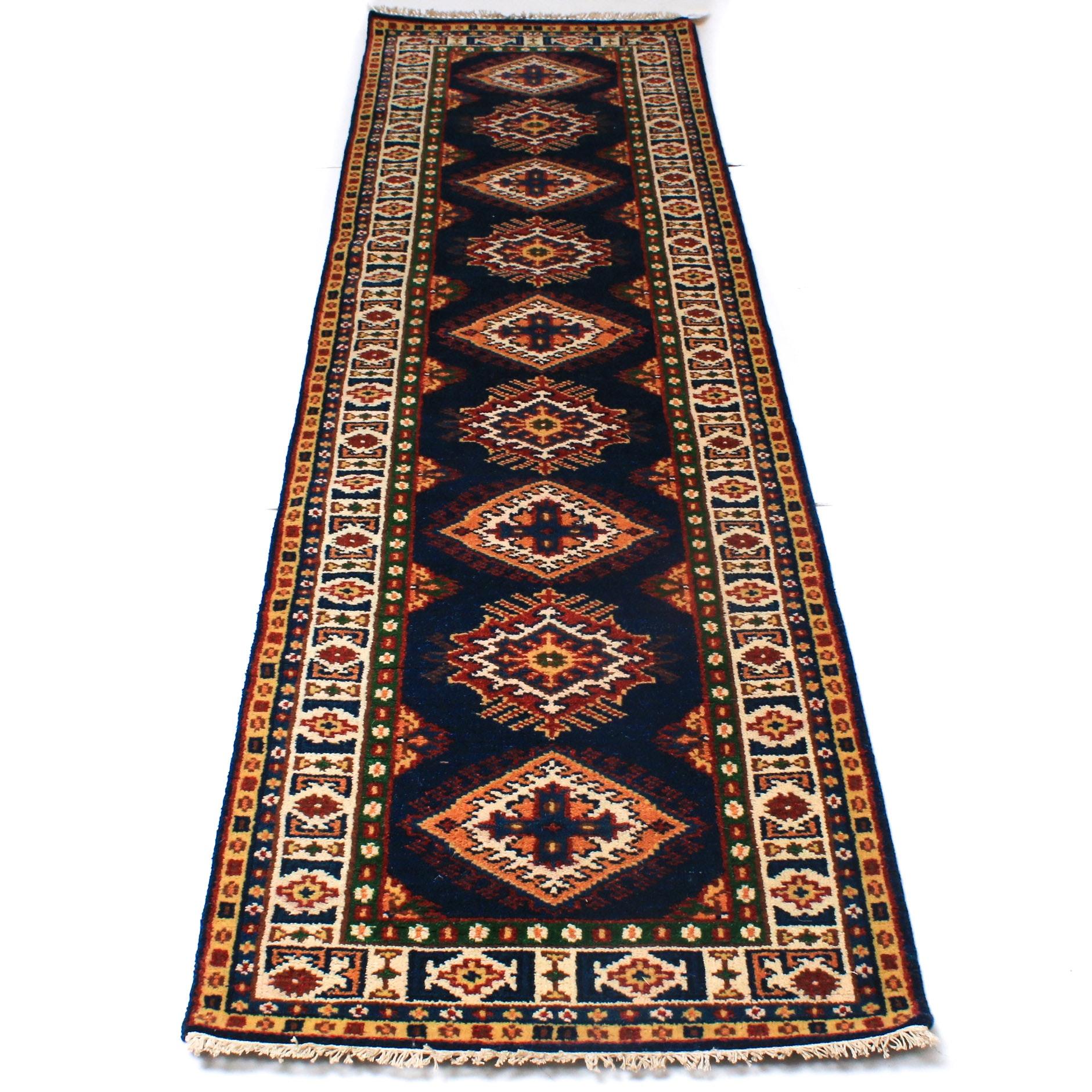 Hand-Knotted Caucasian Bakhshayesh Heriz Carpet Runner