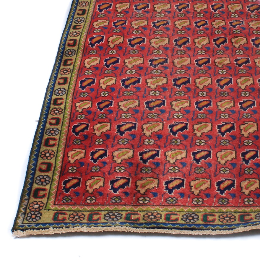 Hand-Knotted Persian Malayer Rug, Circa 1930