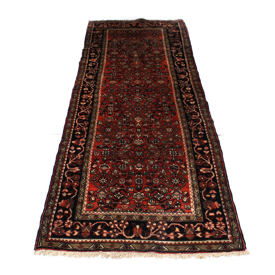 Hand-Knotted Persian Malayer Long Rug