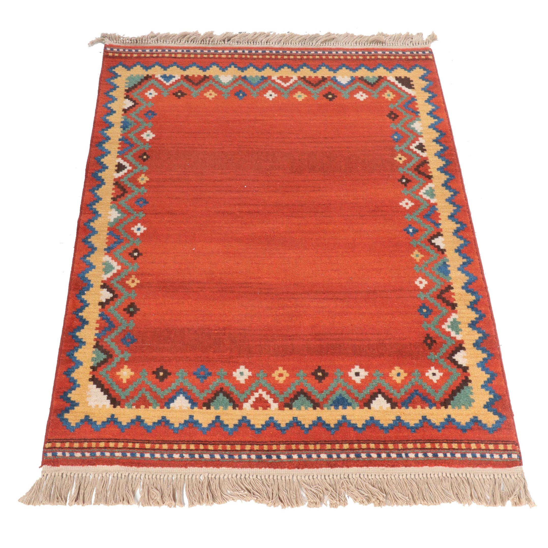 Machine Made Turkish Gabbeh Wool Area Rug