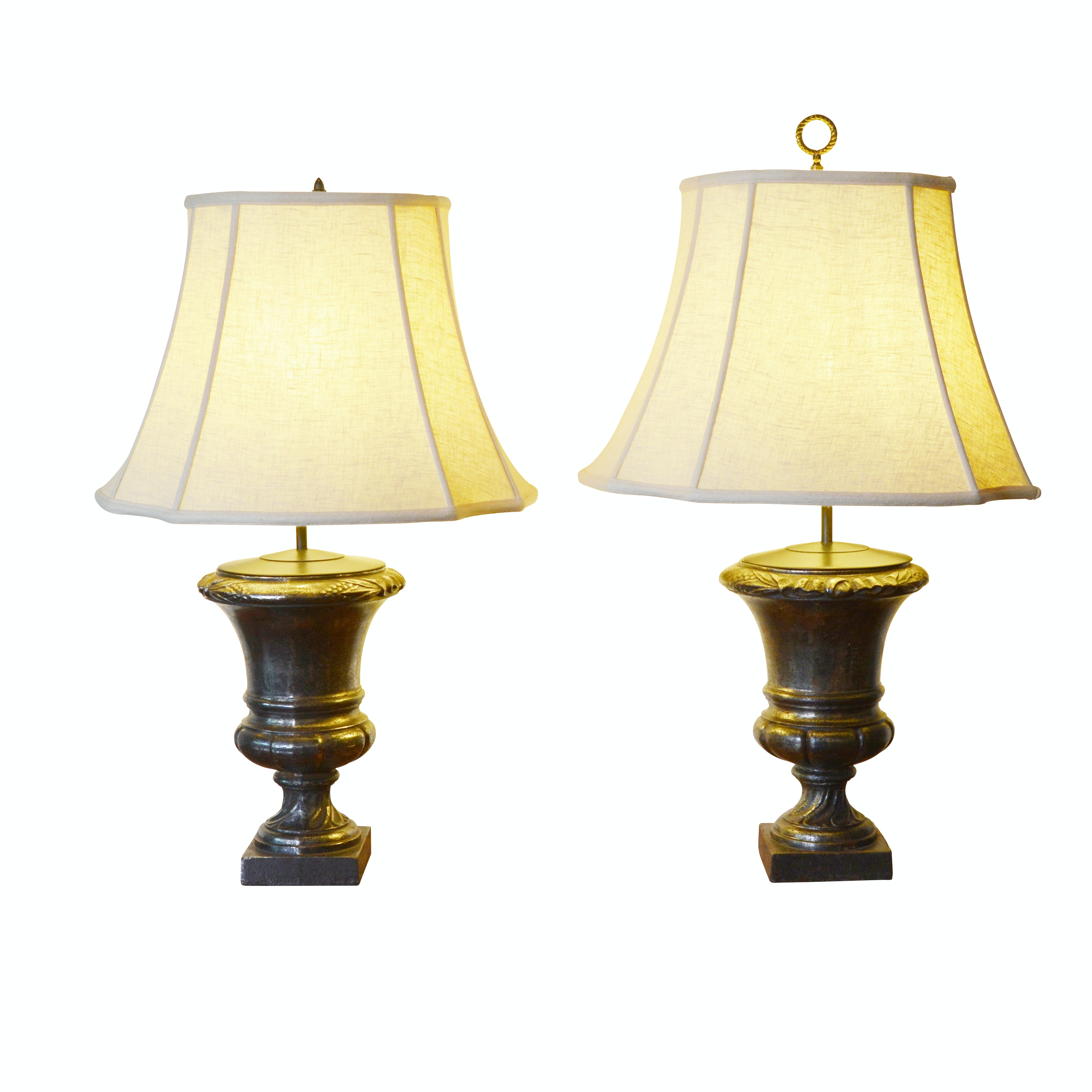 Metal Urn Form Table Lamps