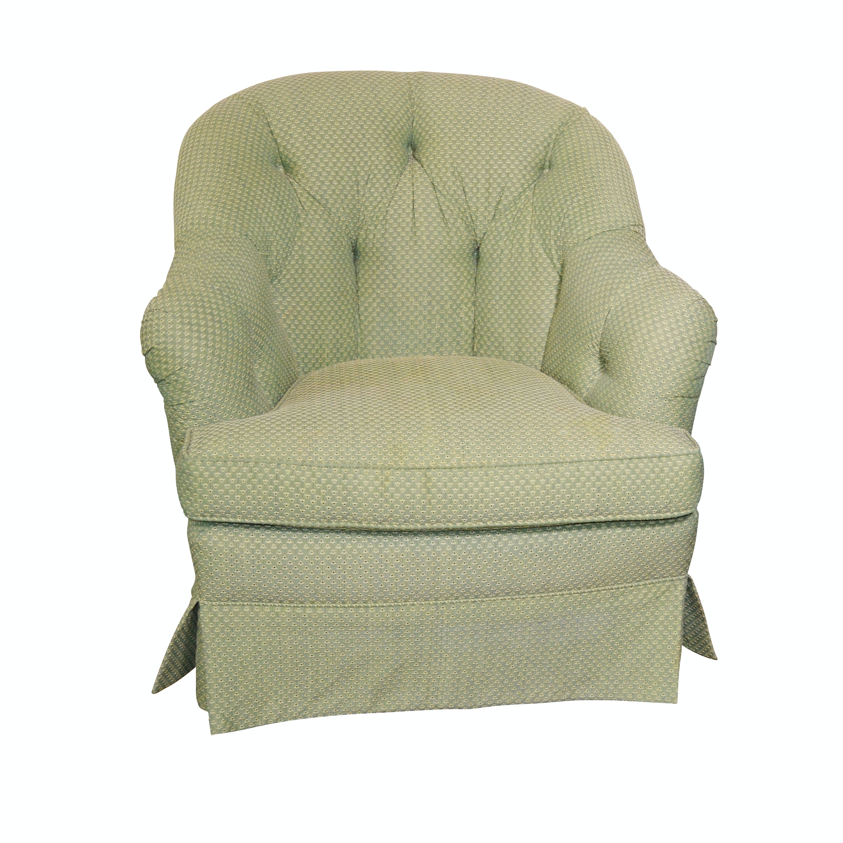 Tufted Back Upholstered Club Chair, Late 20th Century