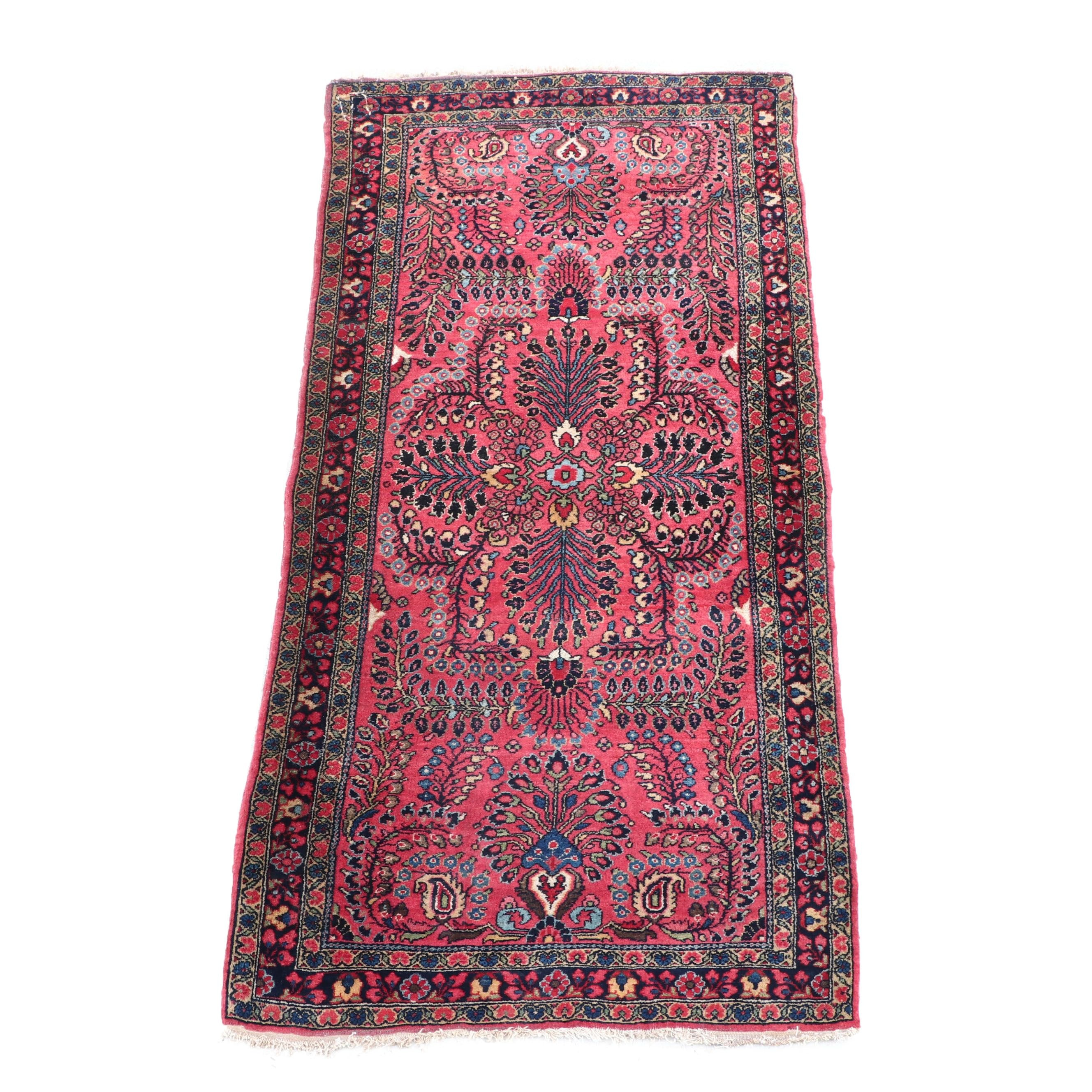Hand-Knotted Persian Herati Wool Rug