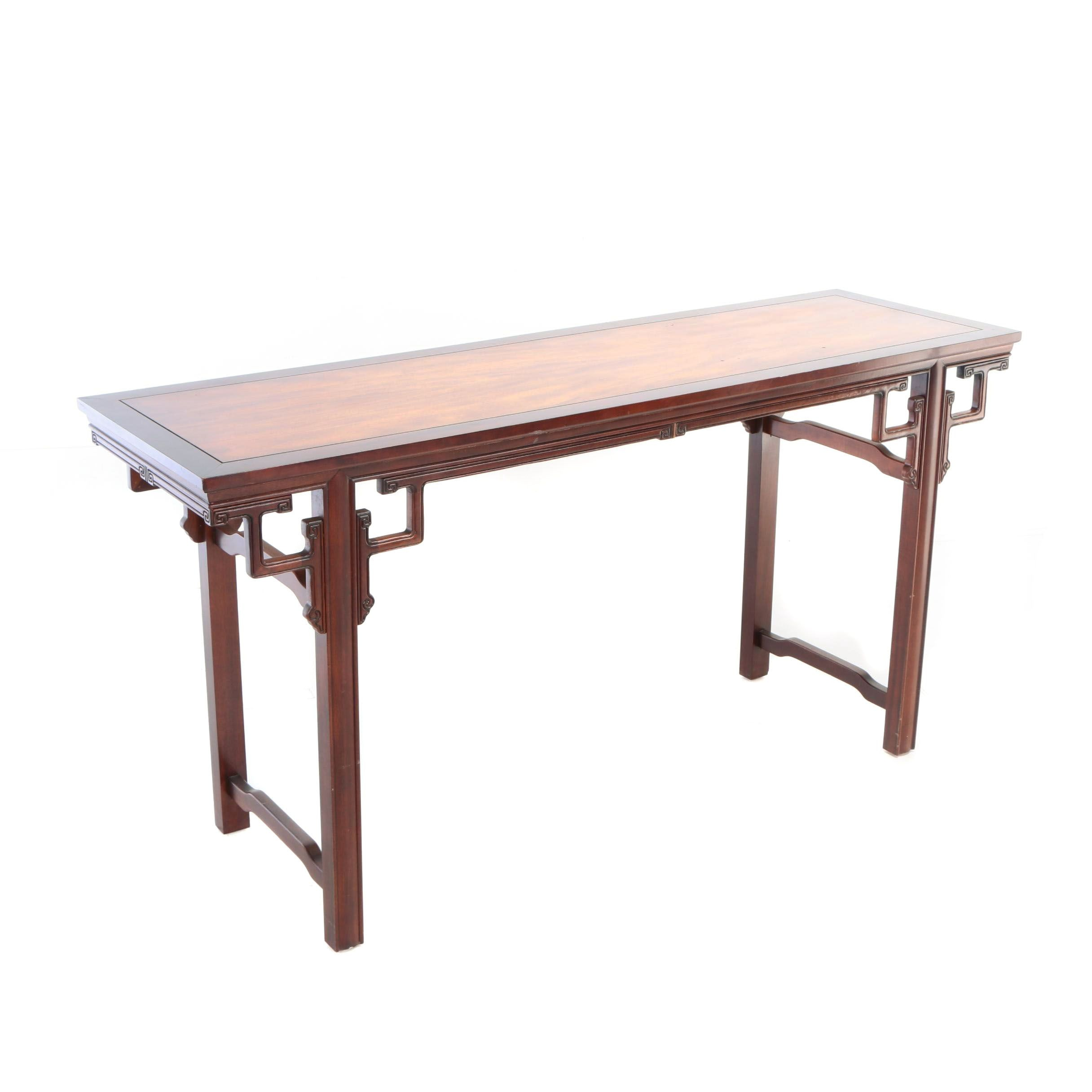 Chinese Carved Hardwood Console Table, Late 20th Century