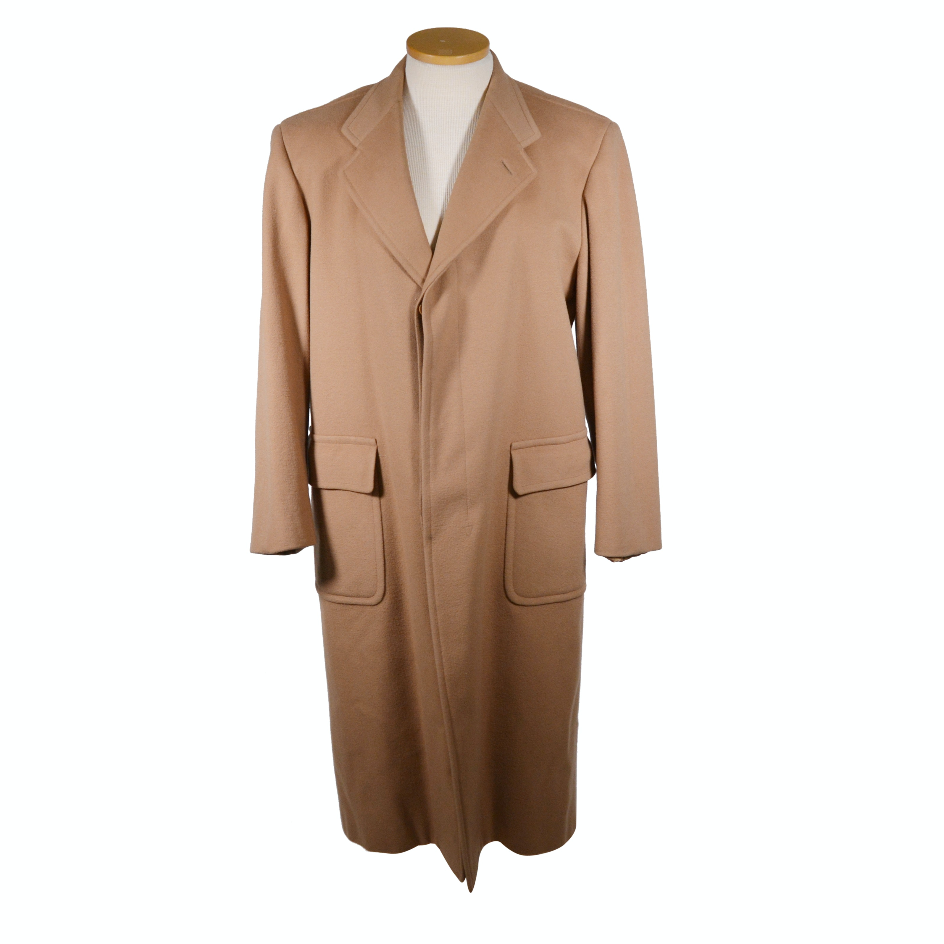 Men's Giorgio Armani Couture Camel Wool and Cashmere Overcoat
