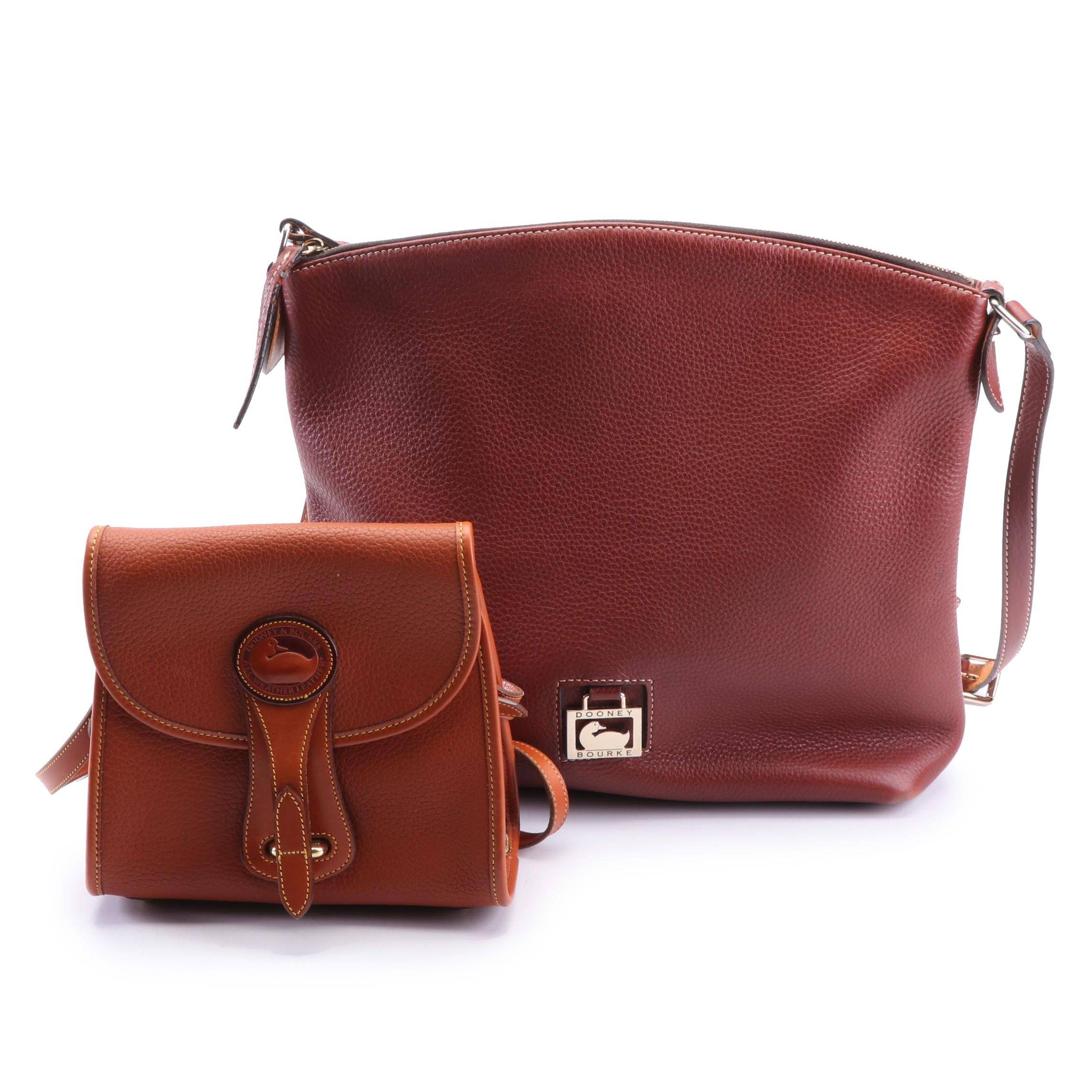 Dooney & Bourke Pebbled Leather Shoulder Bags