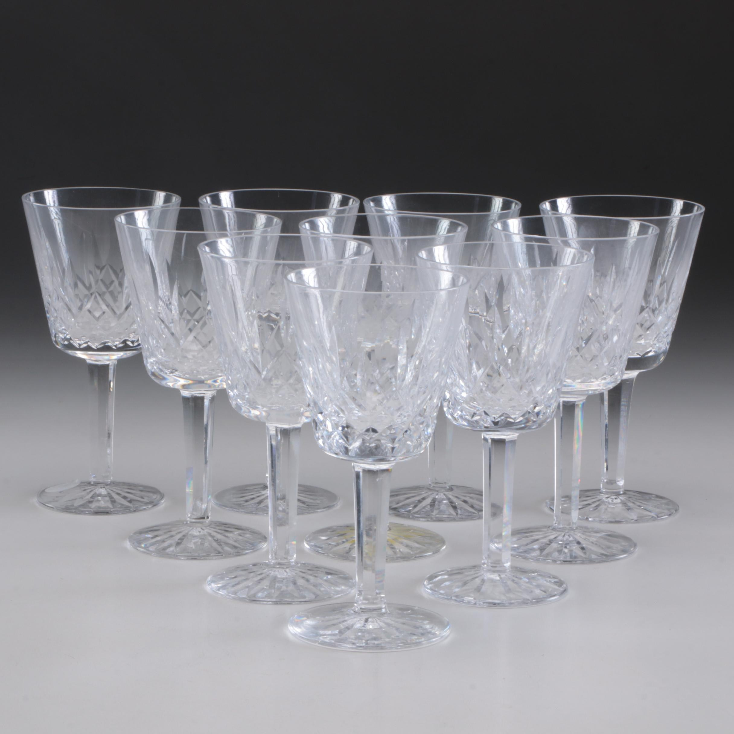 "Waterford ""Lismore"" Claret Wine Glasses"
