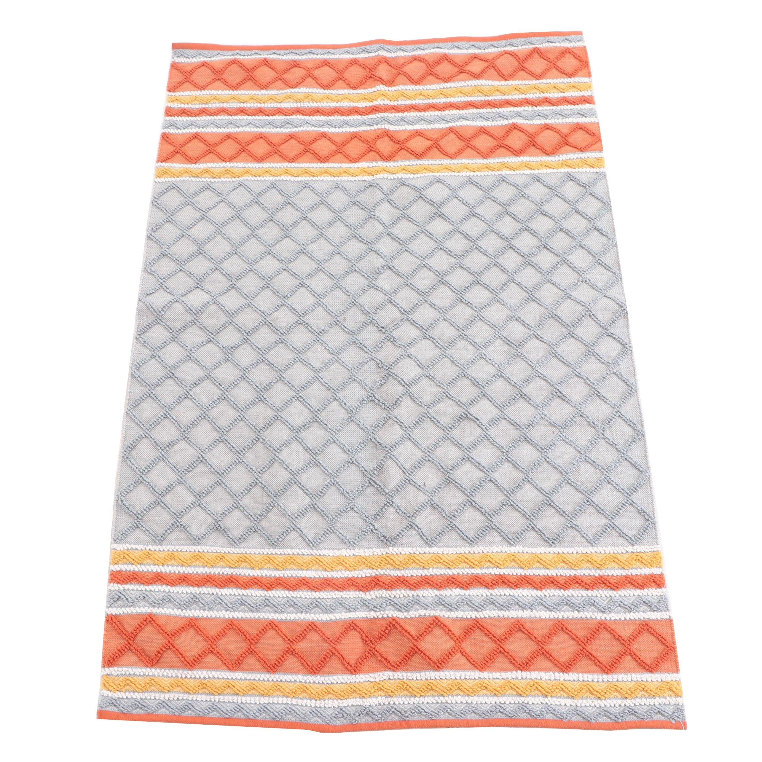 """Handwoven and Hooked Indian The Rug Market """"Dominique Orange"""" Area Rug"""