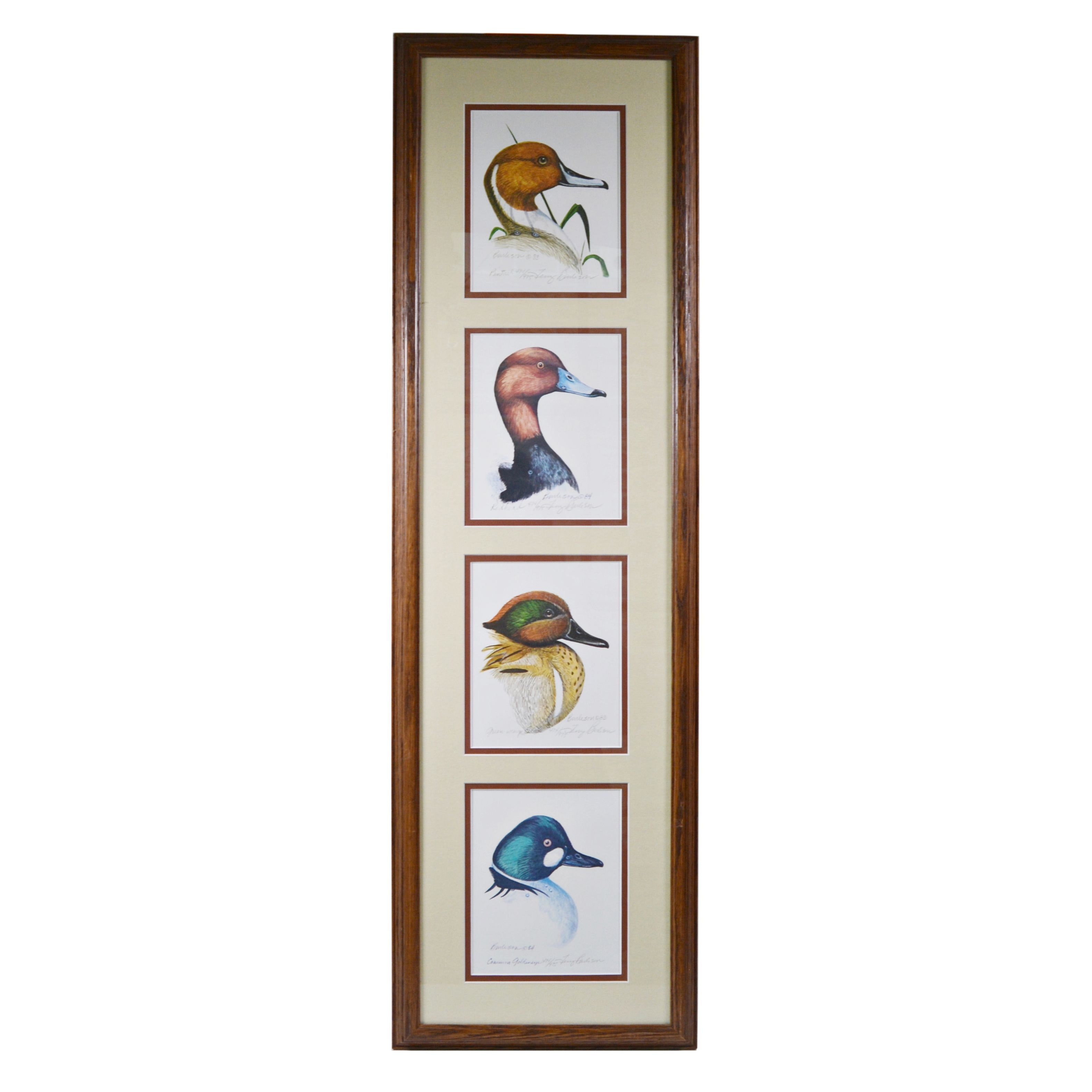Terry Burleson Offset Lithographs of Four Ducks