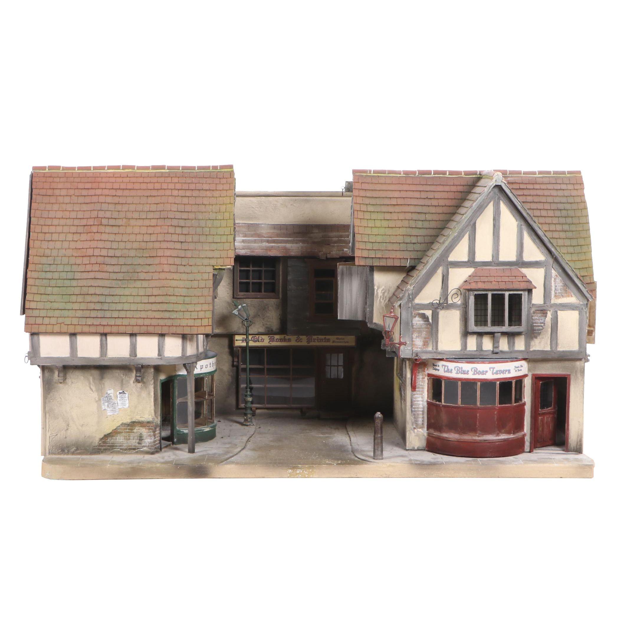 Vic Newey Dickensian Street Scene Dollhouse