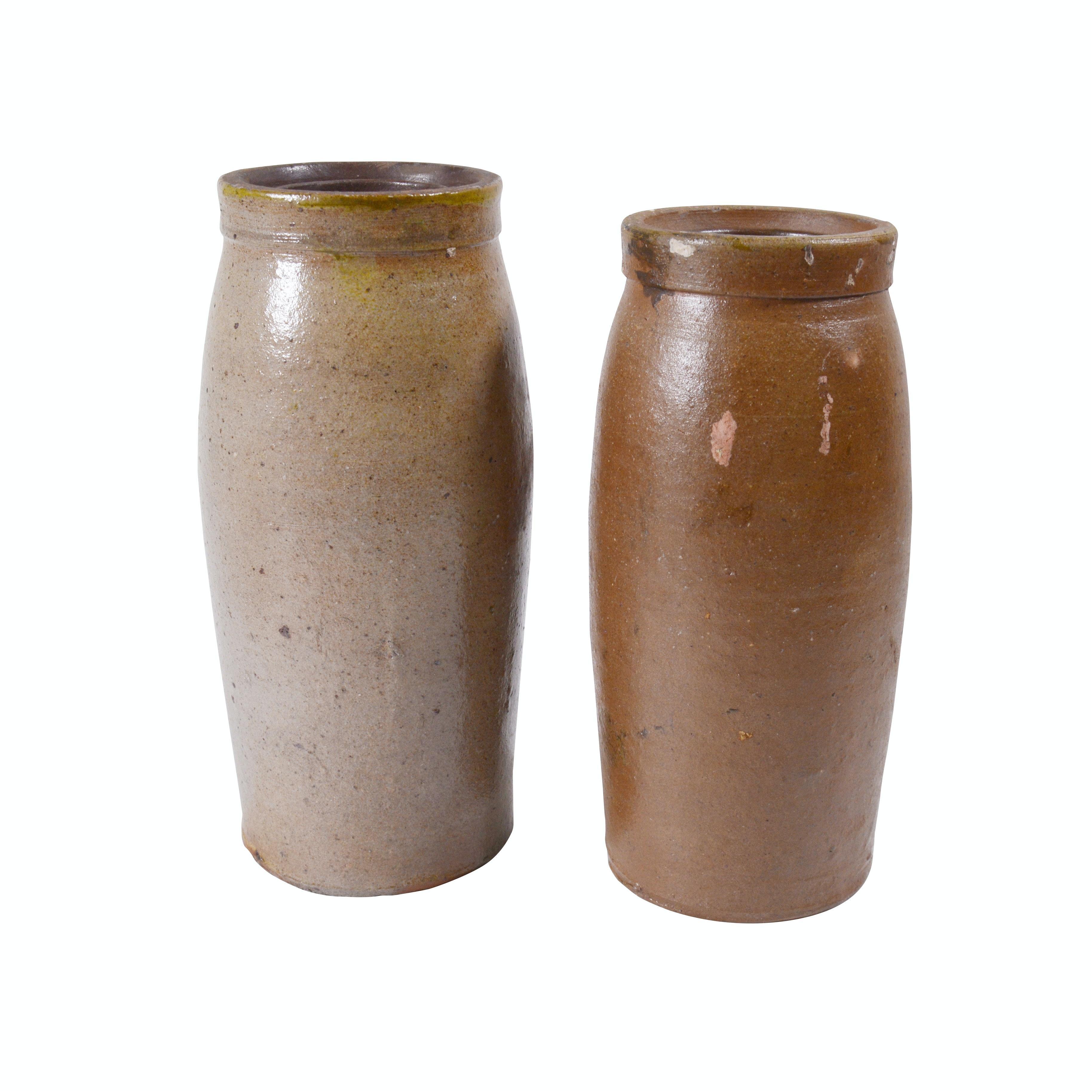 Salt Glazed Stoneware Fermentation Jars, Vintage