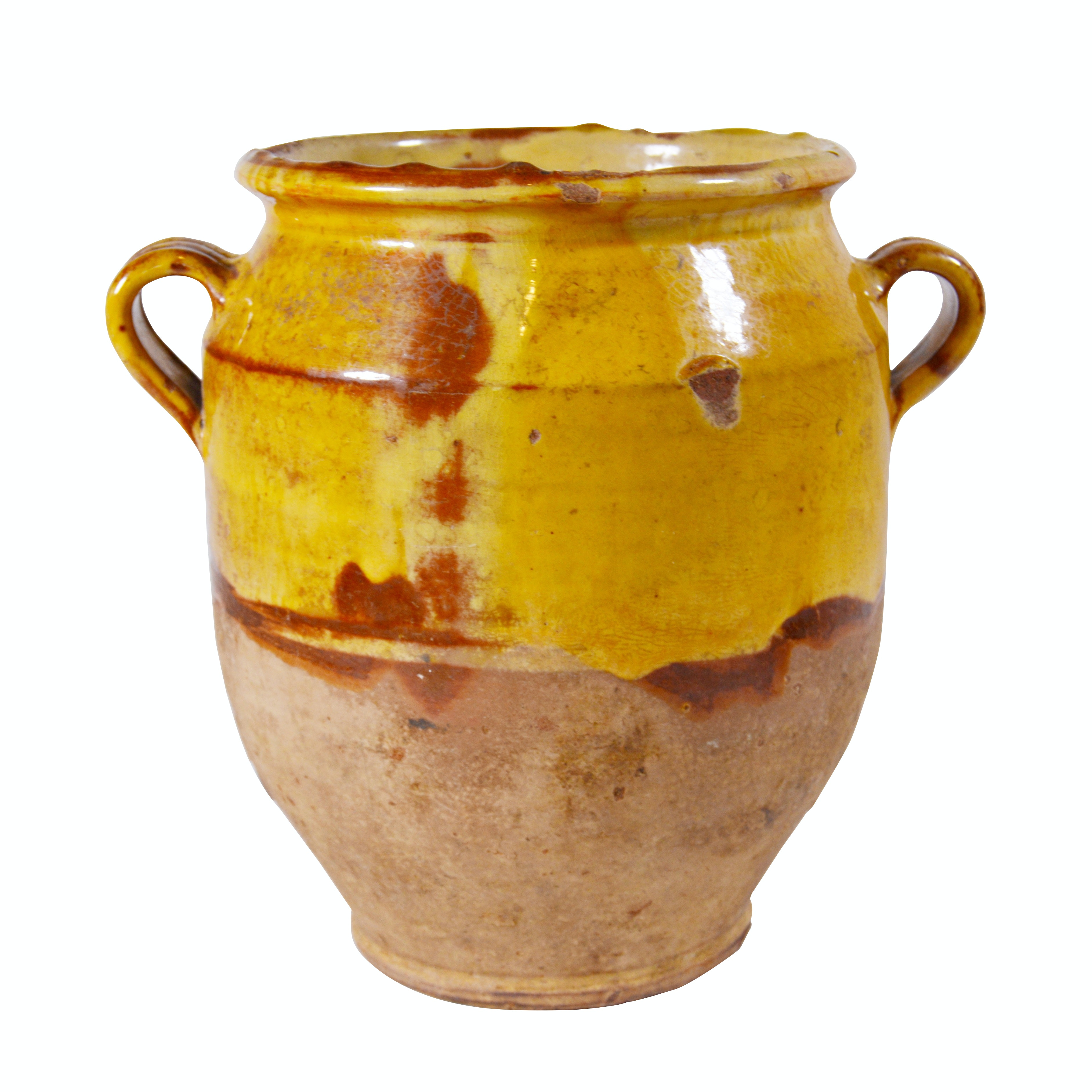 French Country Earthenware Confit Jar
