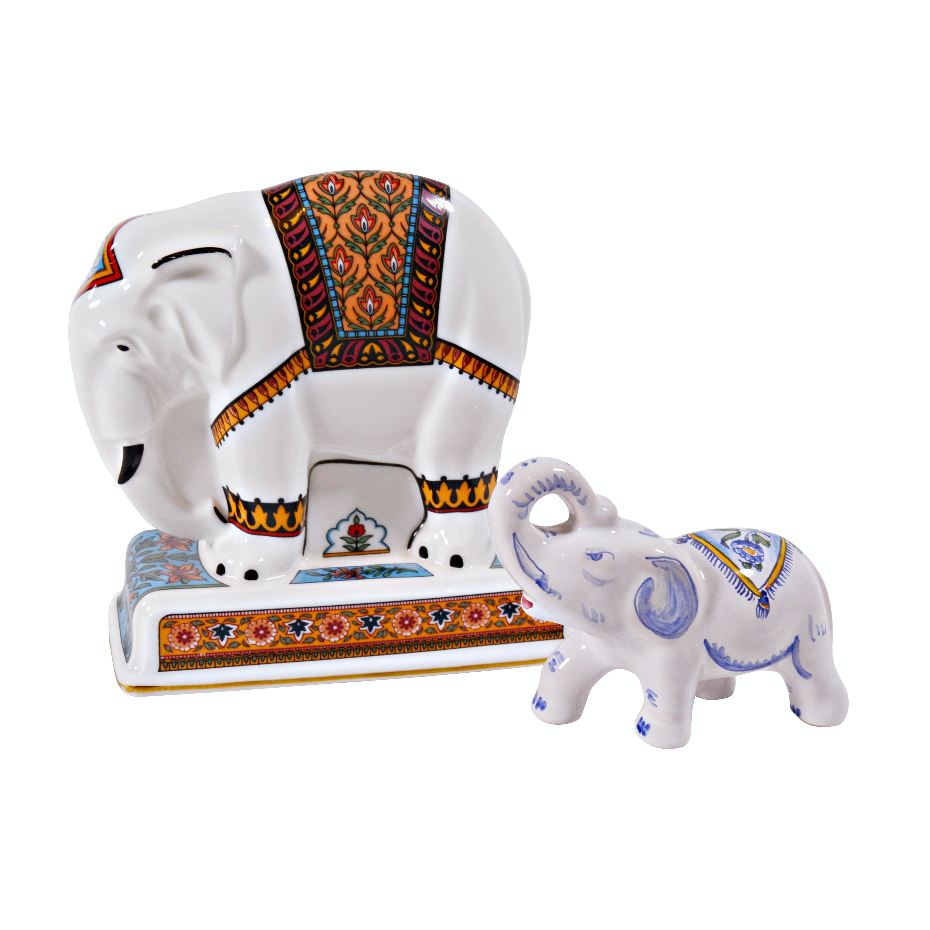 "Wedgwood ""Noah's Ark Collection"" Elephant China Figurine and Moustiers Elephant"